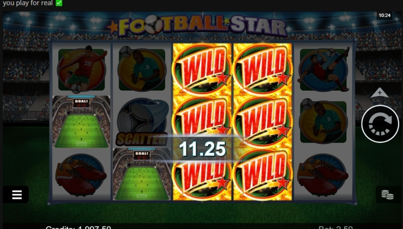 Win Money in Football Star (Microgaming) Free Slot Game by Microgaming