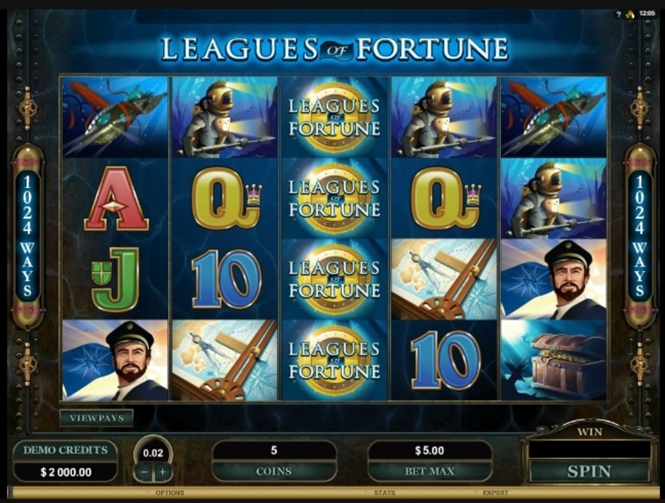 Reels in Leagues of Fortune Slot Game by Microgaming