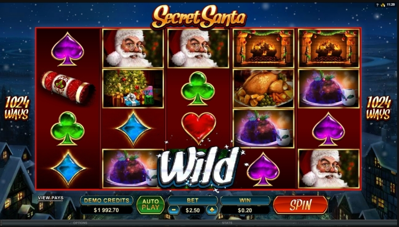 Win Money in Secret Santa Free Slot Game by Microgaming