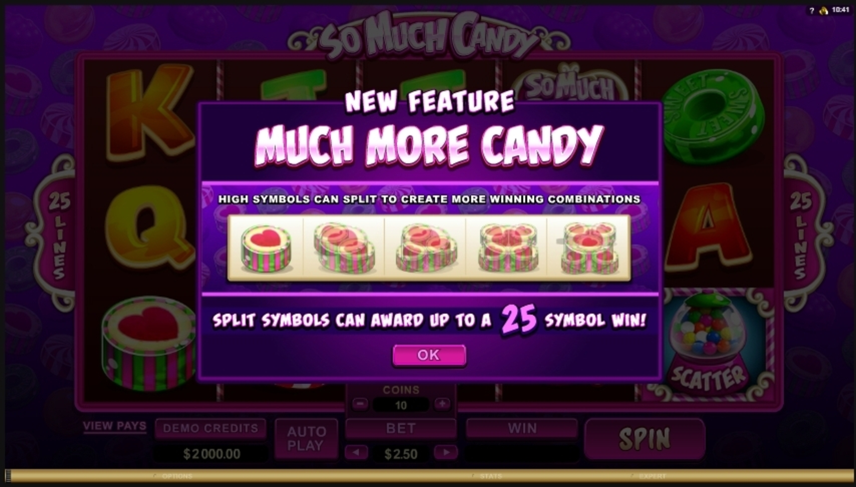 Play So Much Candy Free Casino Slot Game by Microgaming