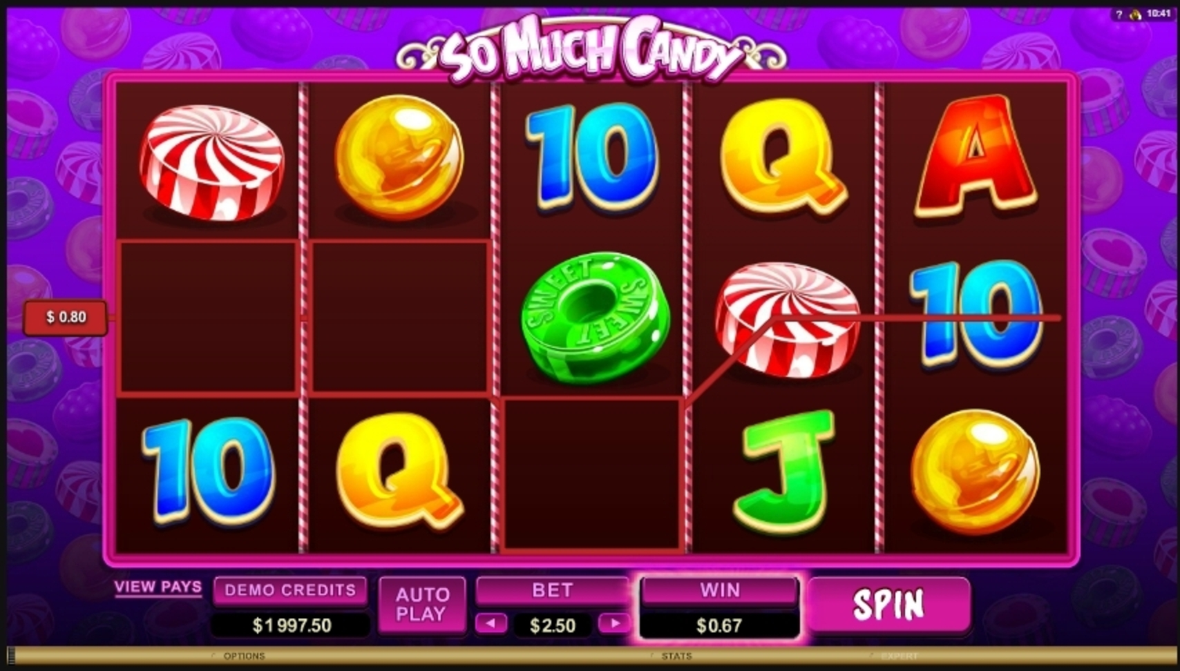Win Money in So Much Candy Free Slot Game by Microgaming