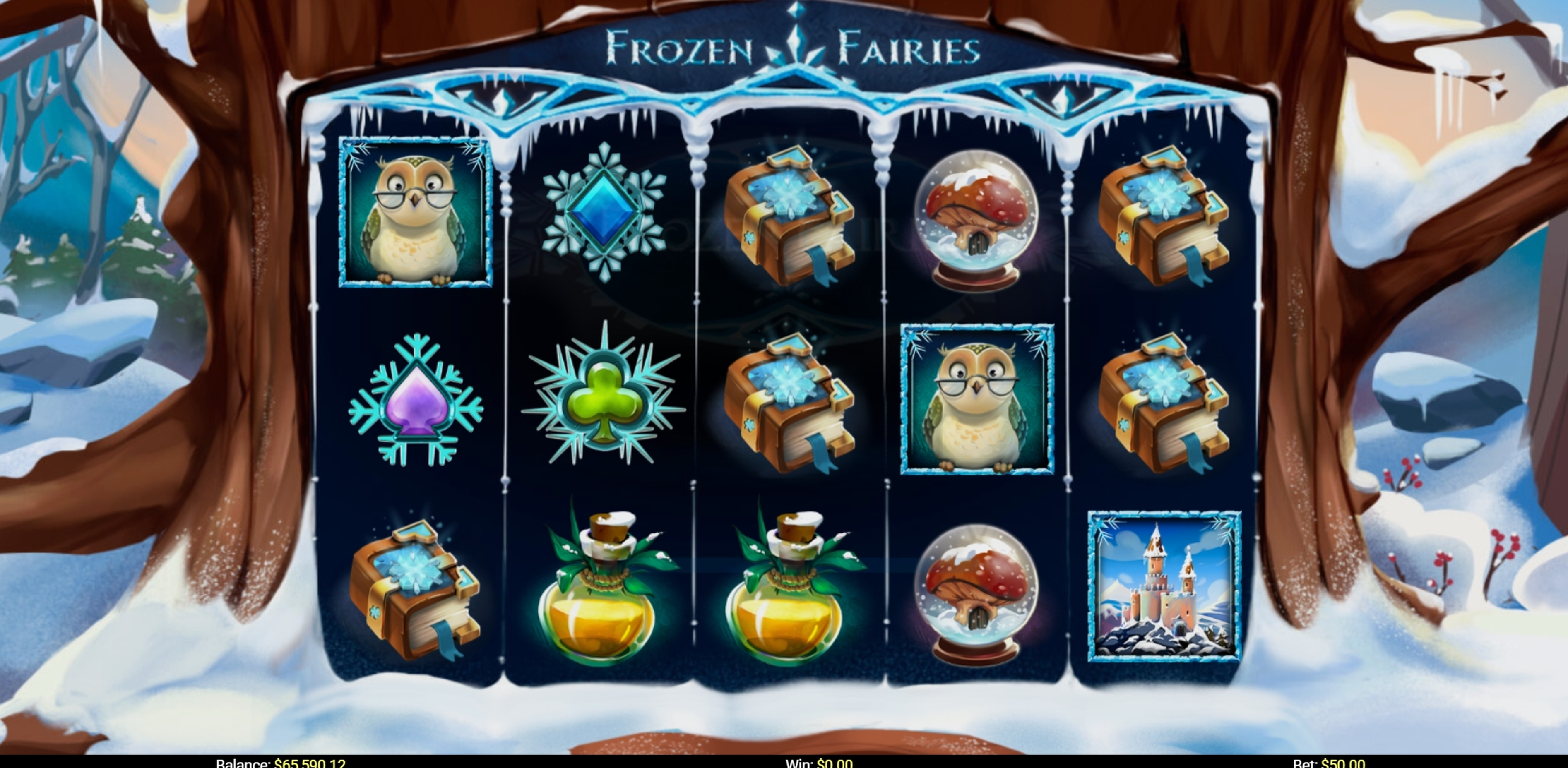 Reels in Frozen Fairies Slot Game by Mobilots