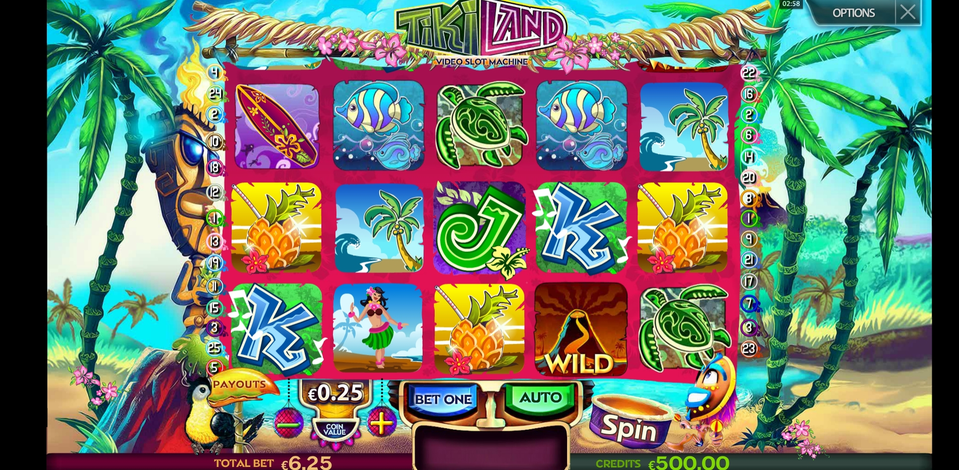Reels in Tiki Land Slot Game by Multislot