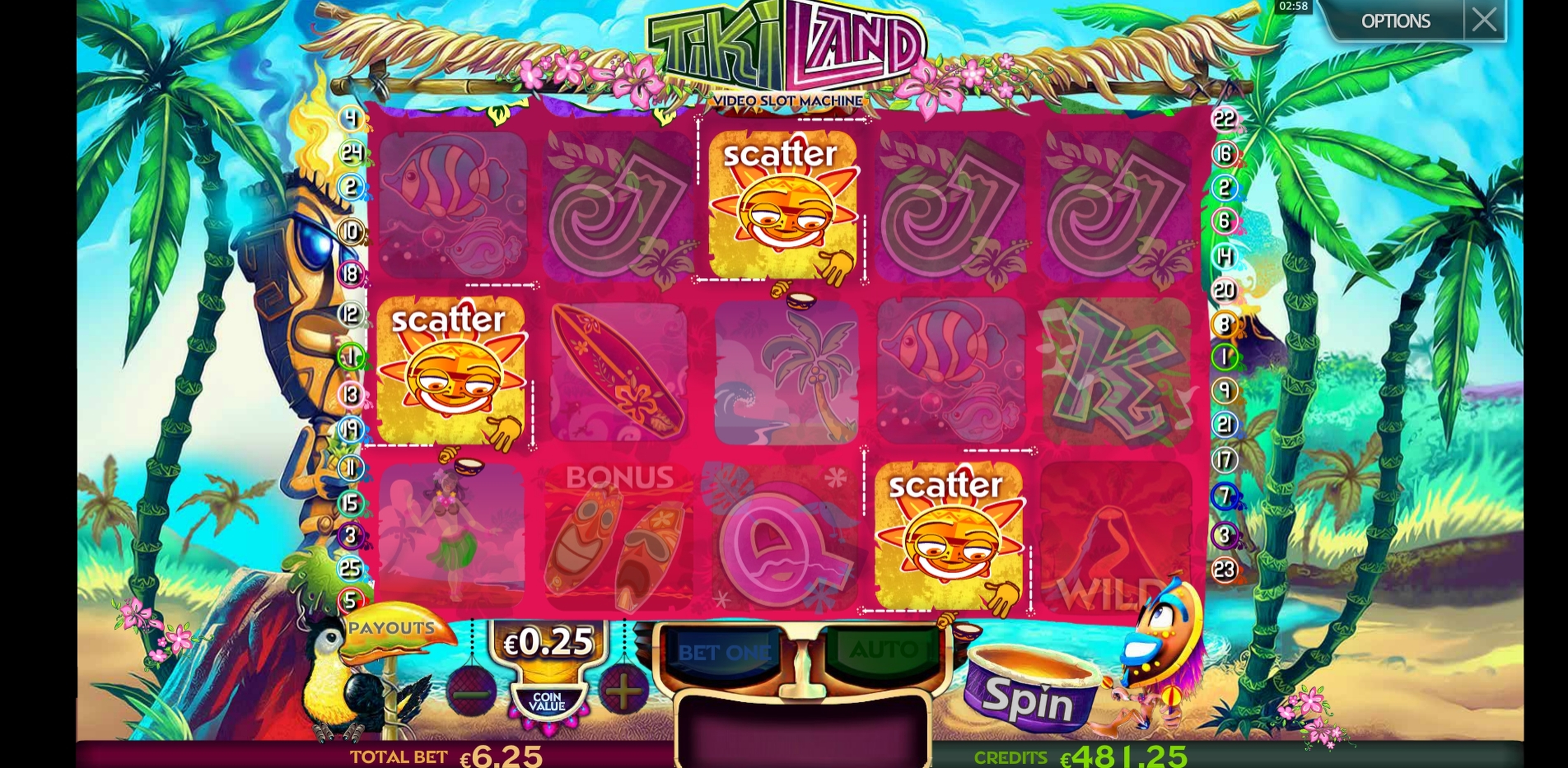 Win Money in Tiki Land Free Slot Game by Multislot
