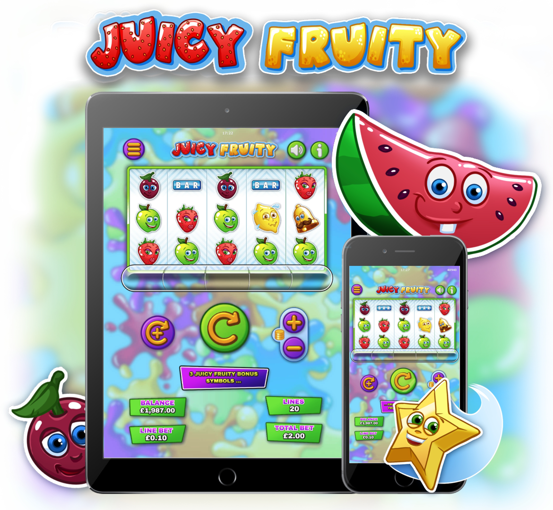 The Juicy Fruity Online Slot Demo Game by Mutuel Play