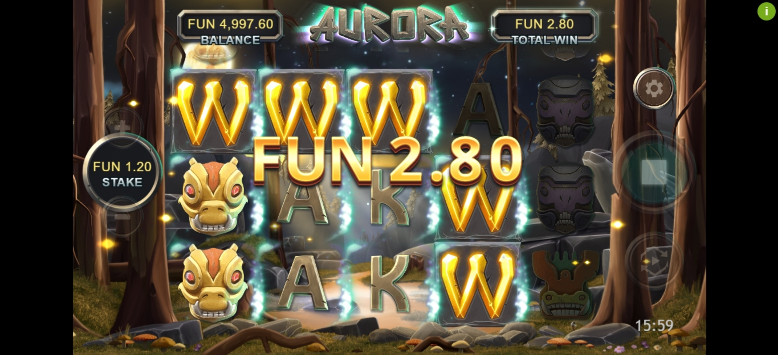 Win Money in Aurora (Northern Lights Gaming) Free Slot Game by Northern Lights Gaming