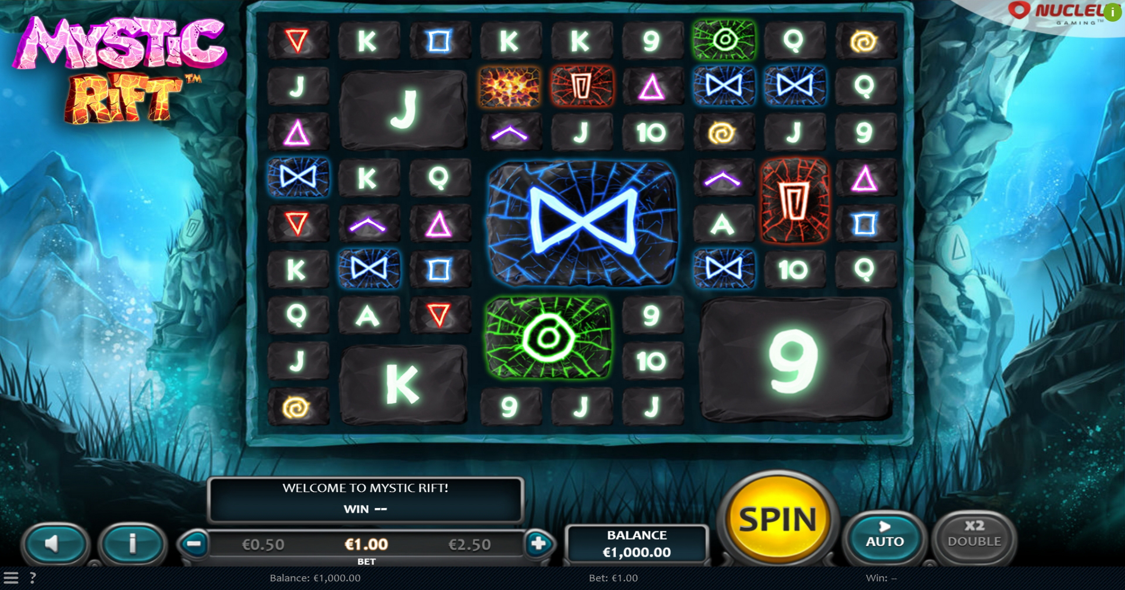 Reels in Mystic Rift Slot Game by Nucleus Gaming
