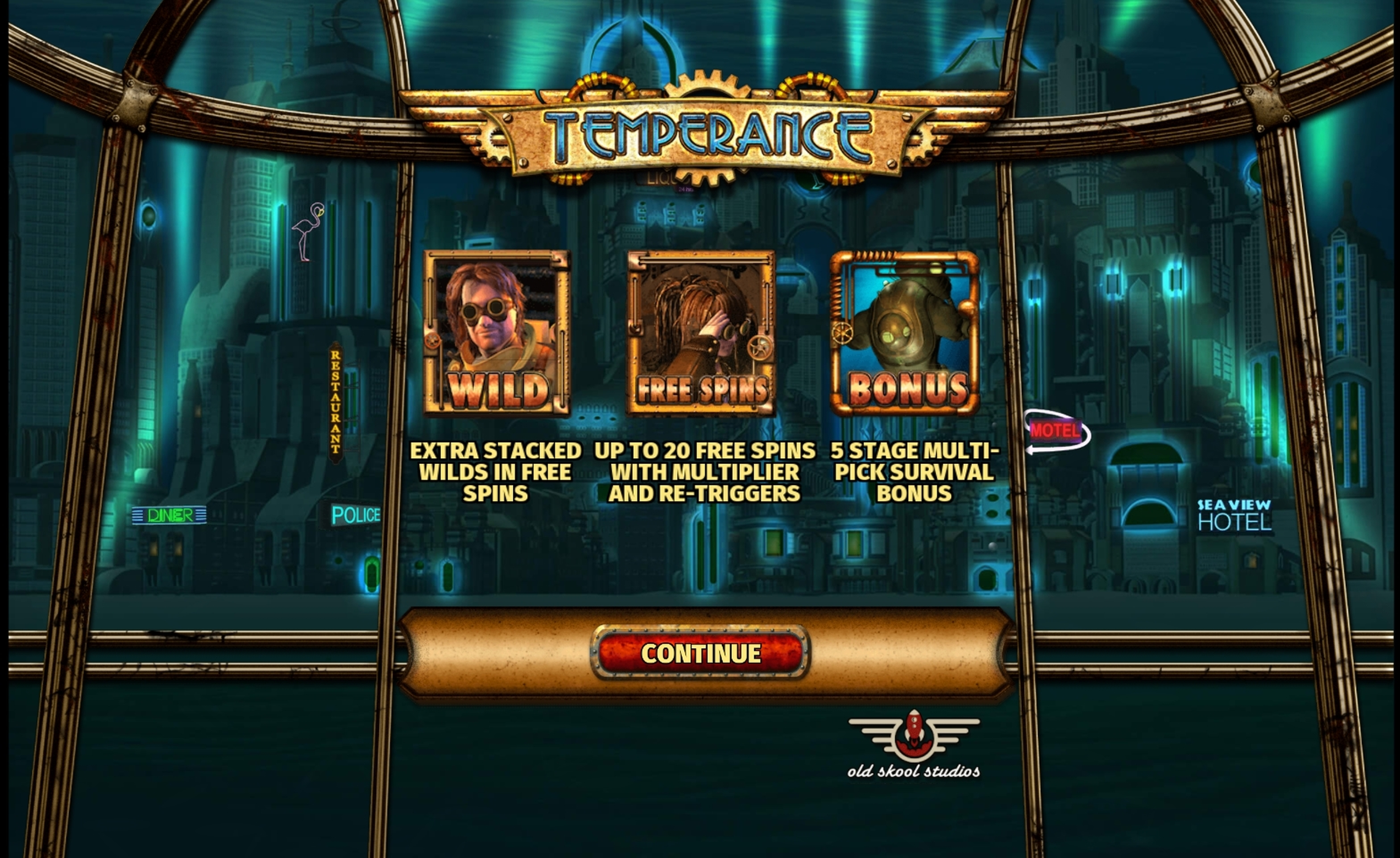 Play Temperance Free Casino Slot Game by Old Skool Studios
