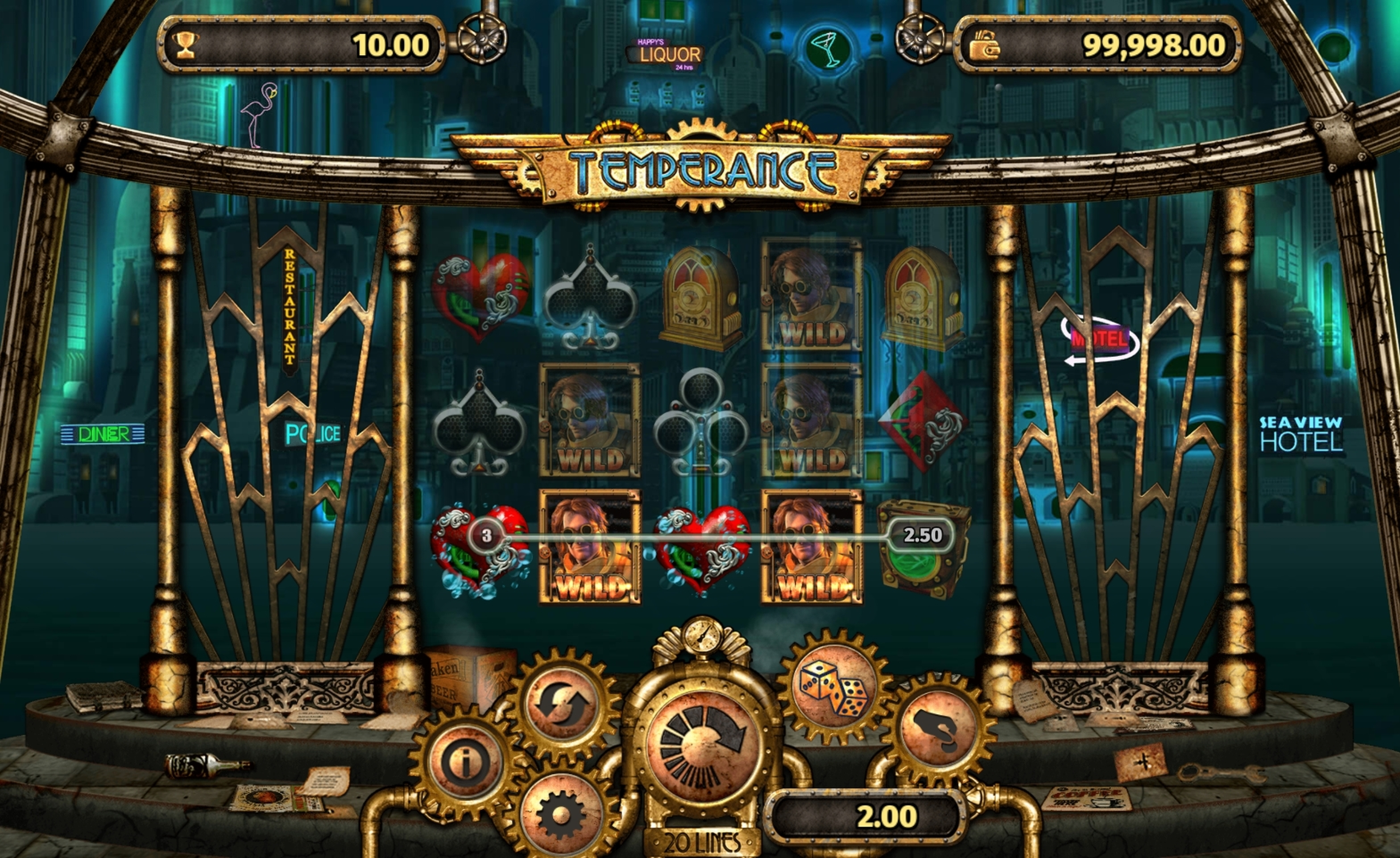 Win Money in Temperance Free Slot Game by Old Skool Studios