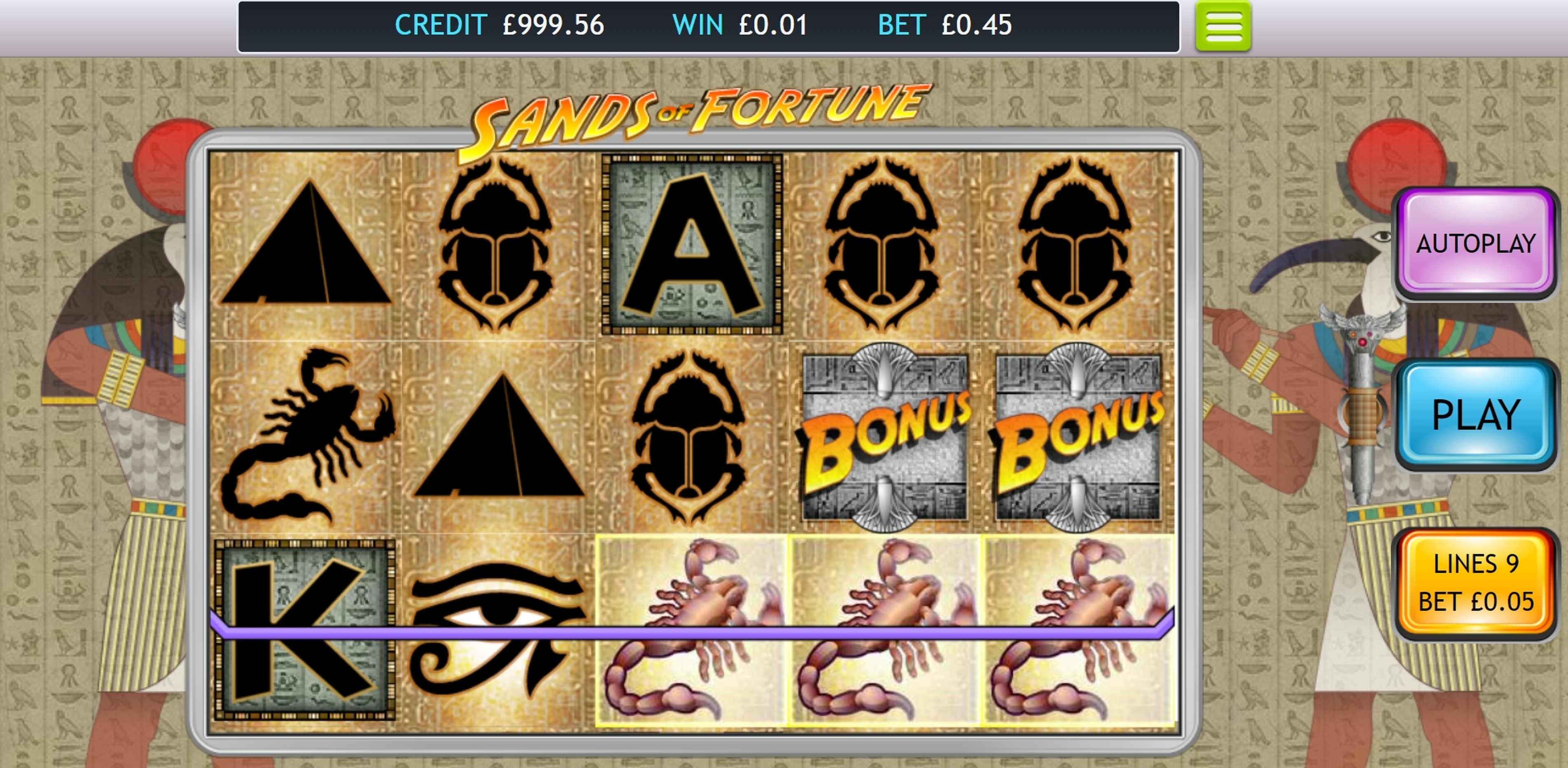 Win Money in Sands of Fortune Free Slot Game by OpenBet