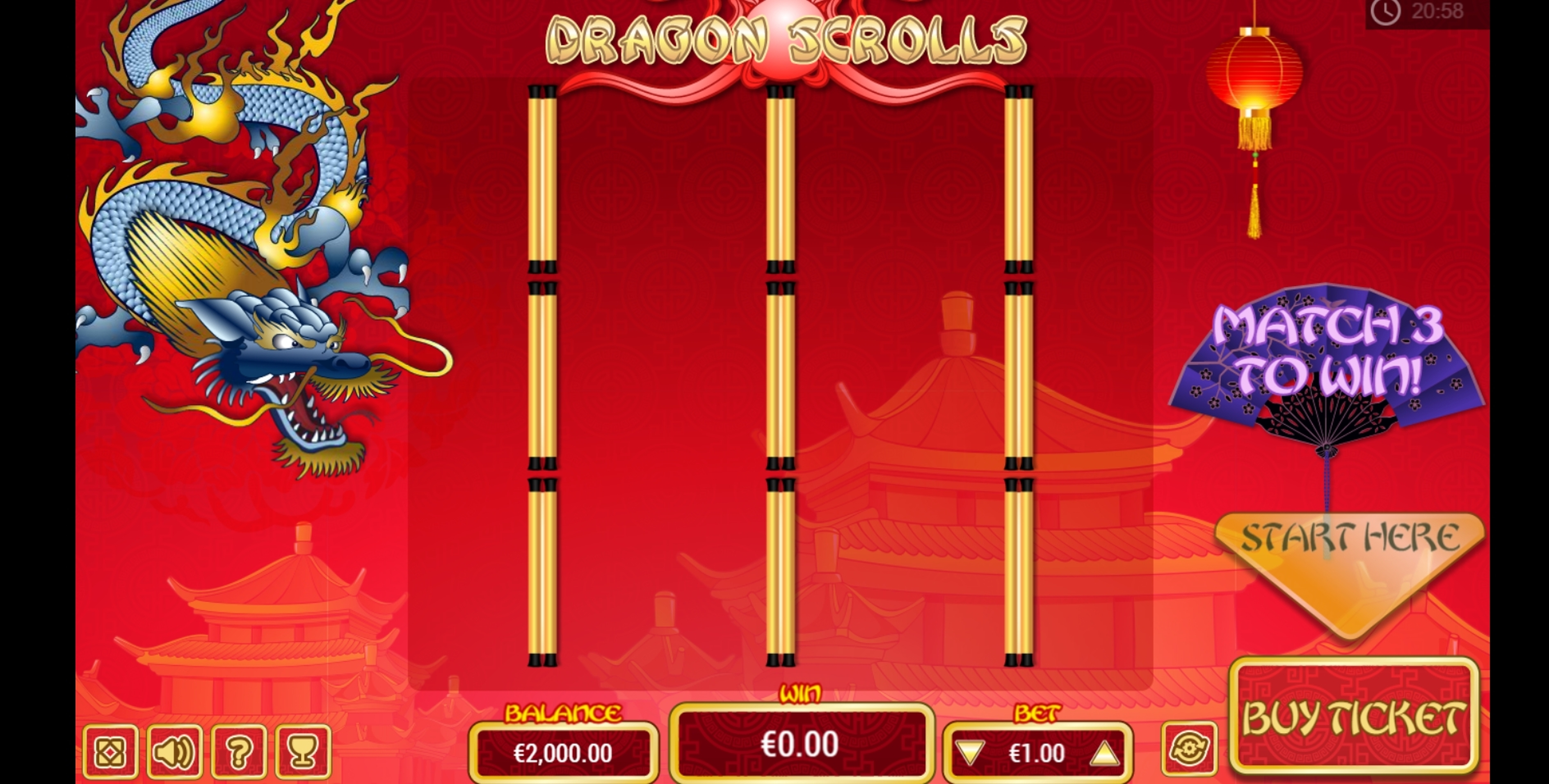 Reels in Dragon Scrolls Scratch Slot Game by PariPlay