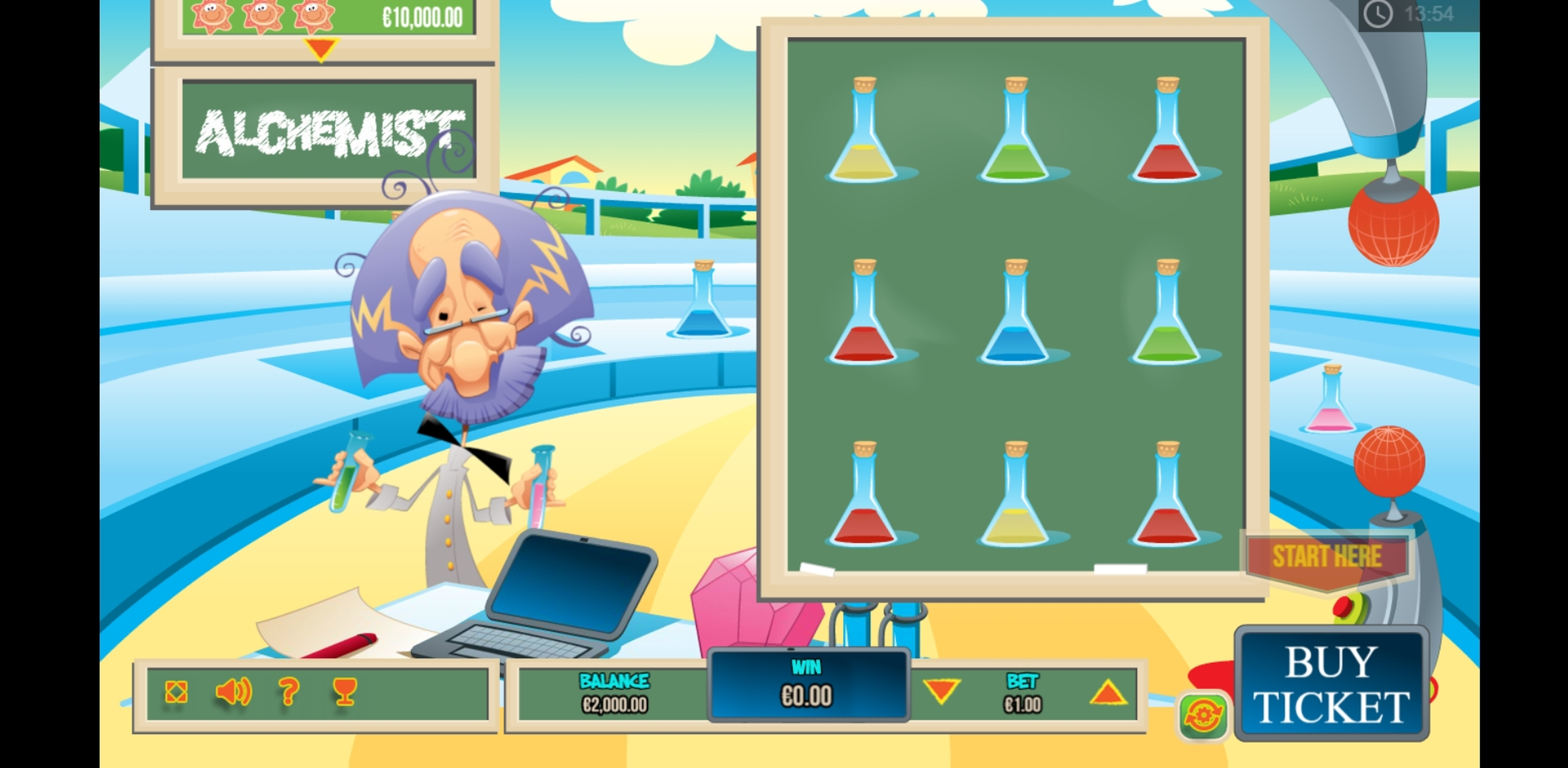 Reels in The Alchemist Scratch Slot Game by PariPlay