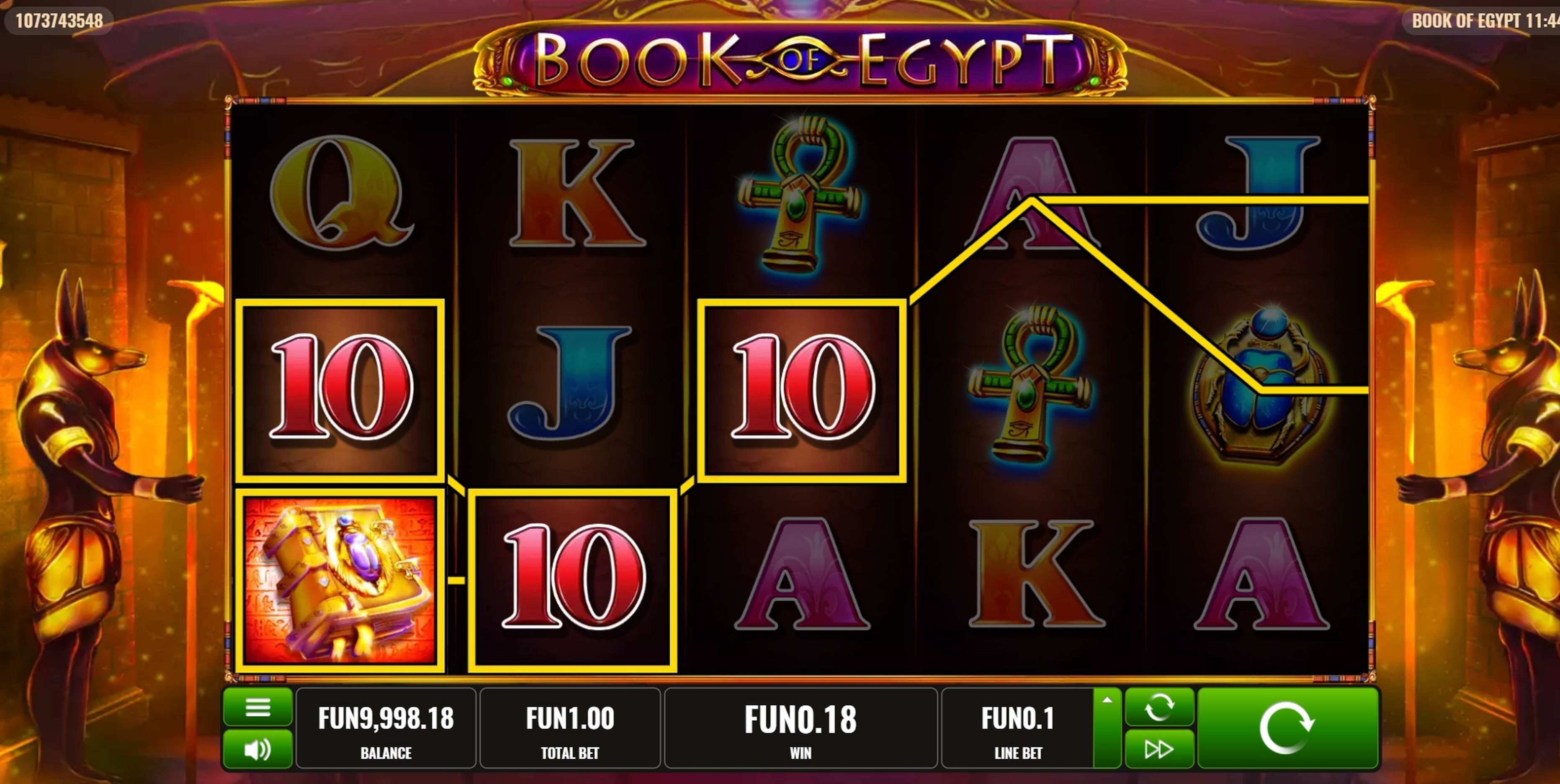 Win Money in Book of Egypt Free Slot Game by Platipus
