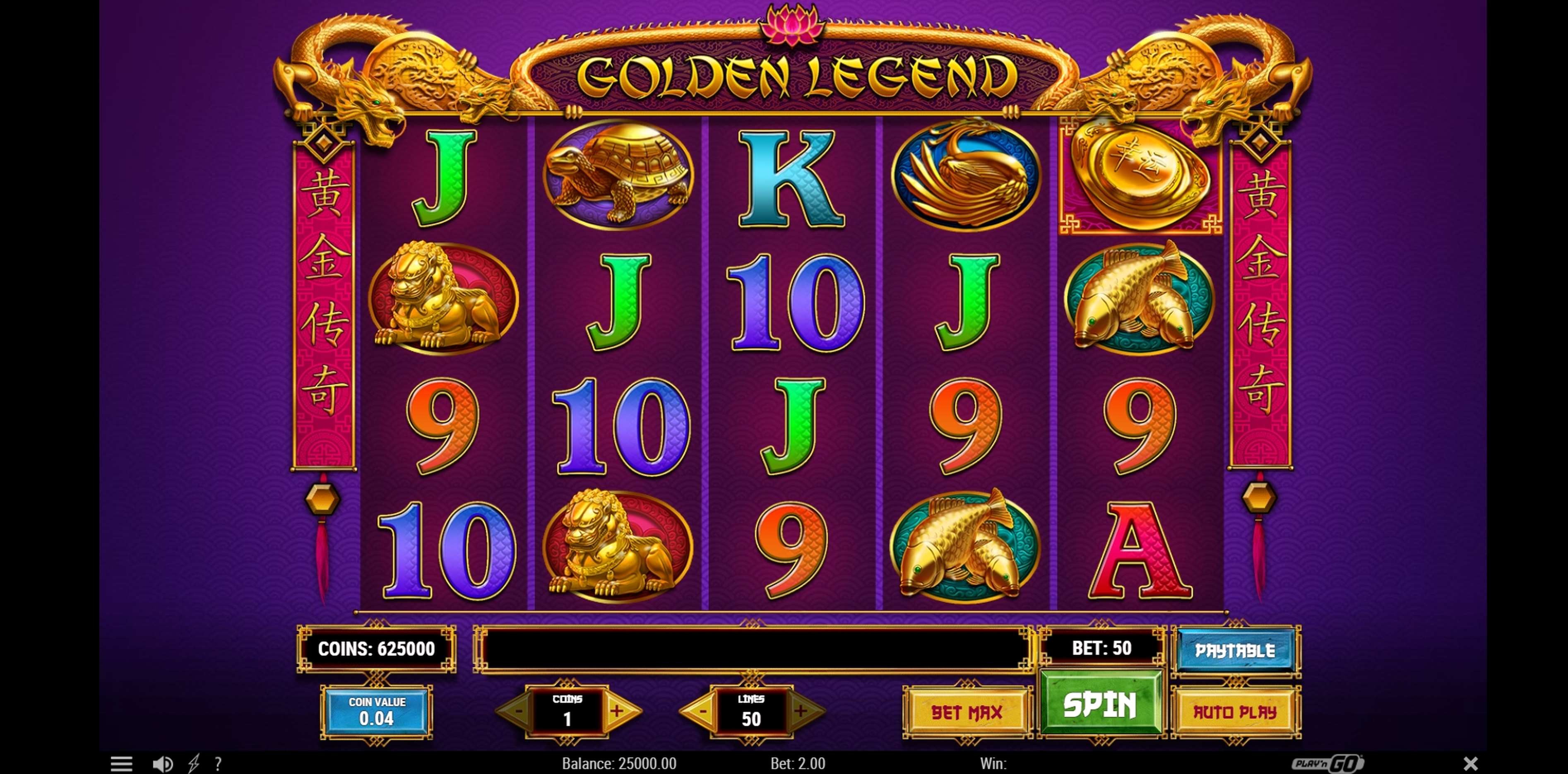 Reels in Golden Legend Slot Game by Playn GO