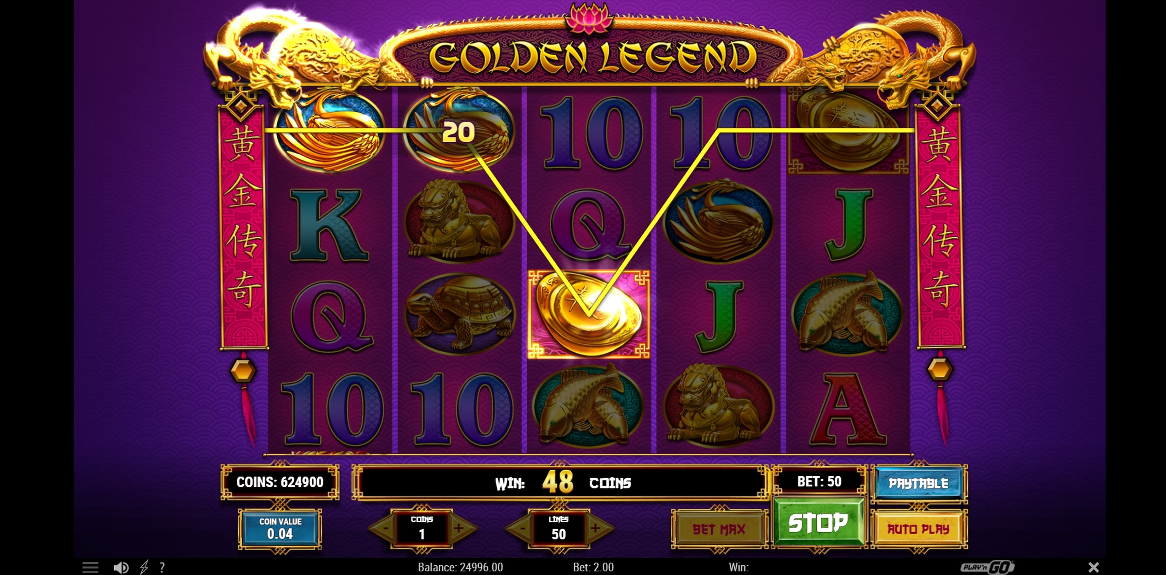 Win Money in Golden Legend Free Slot Game by Playn GO
