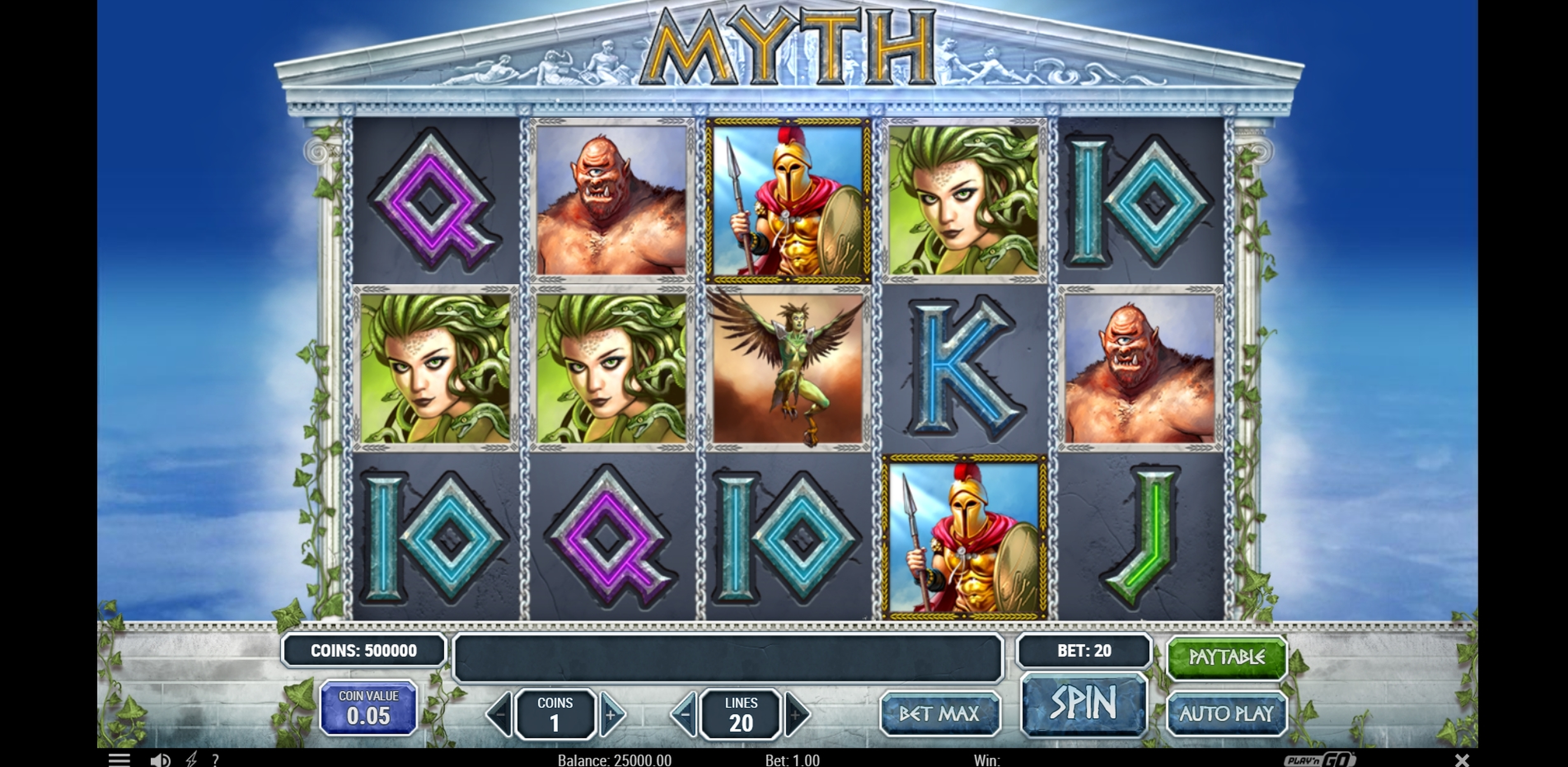 Reels in Myth Slot Game by Playn GO