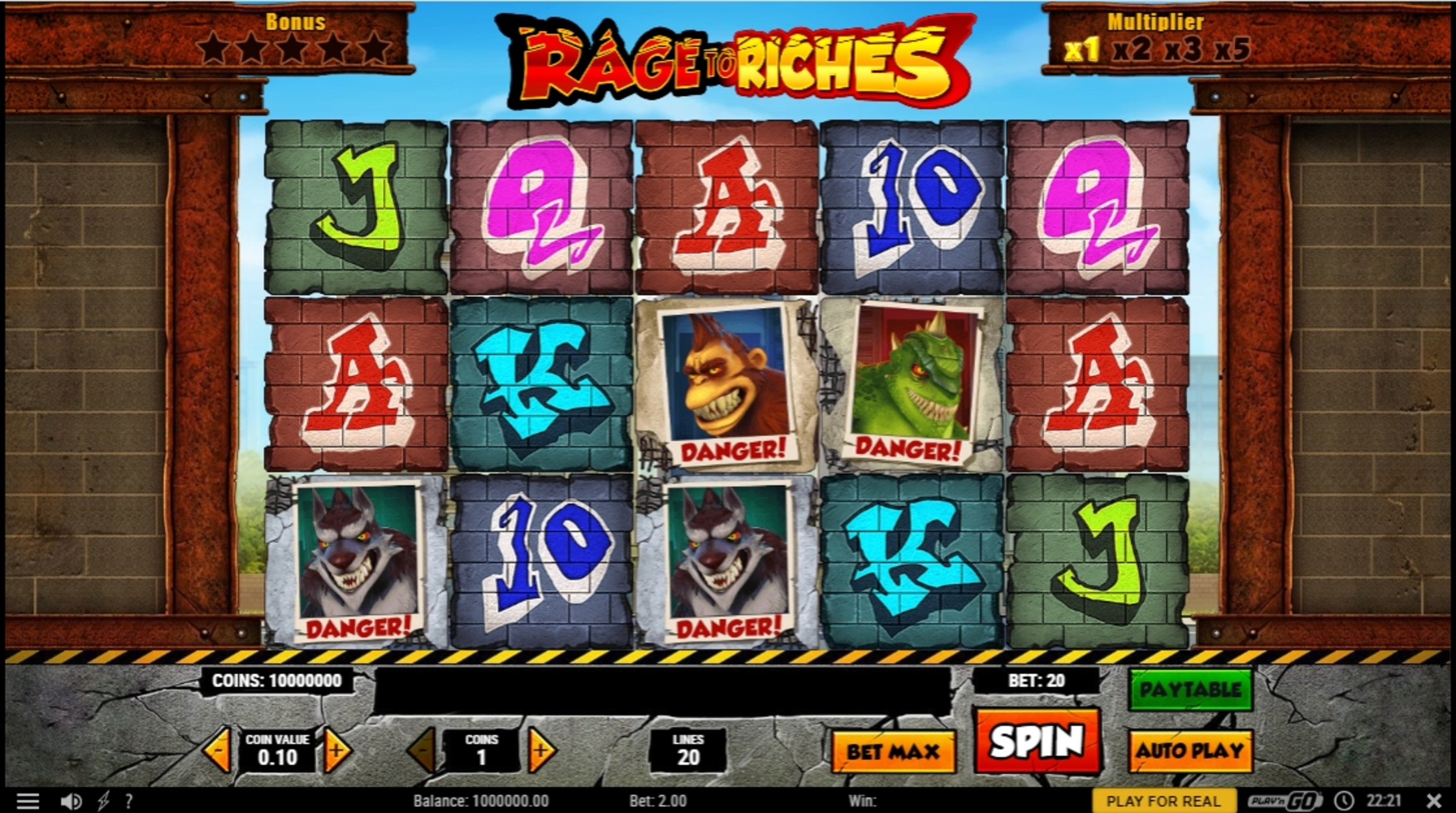 Reels in Rage to Riches Slot Game by Playn GO