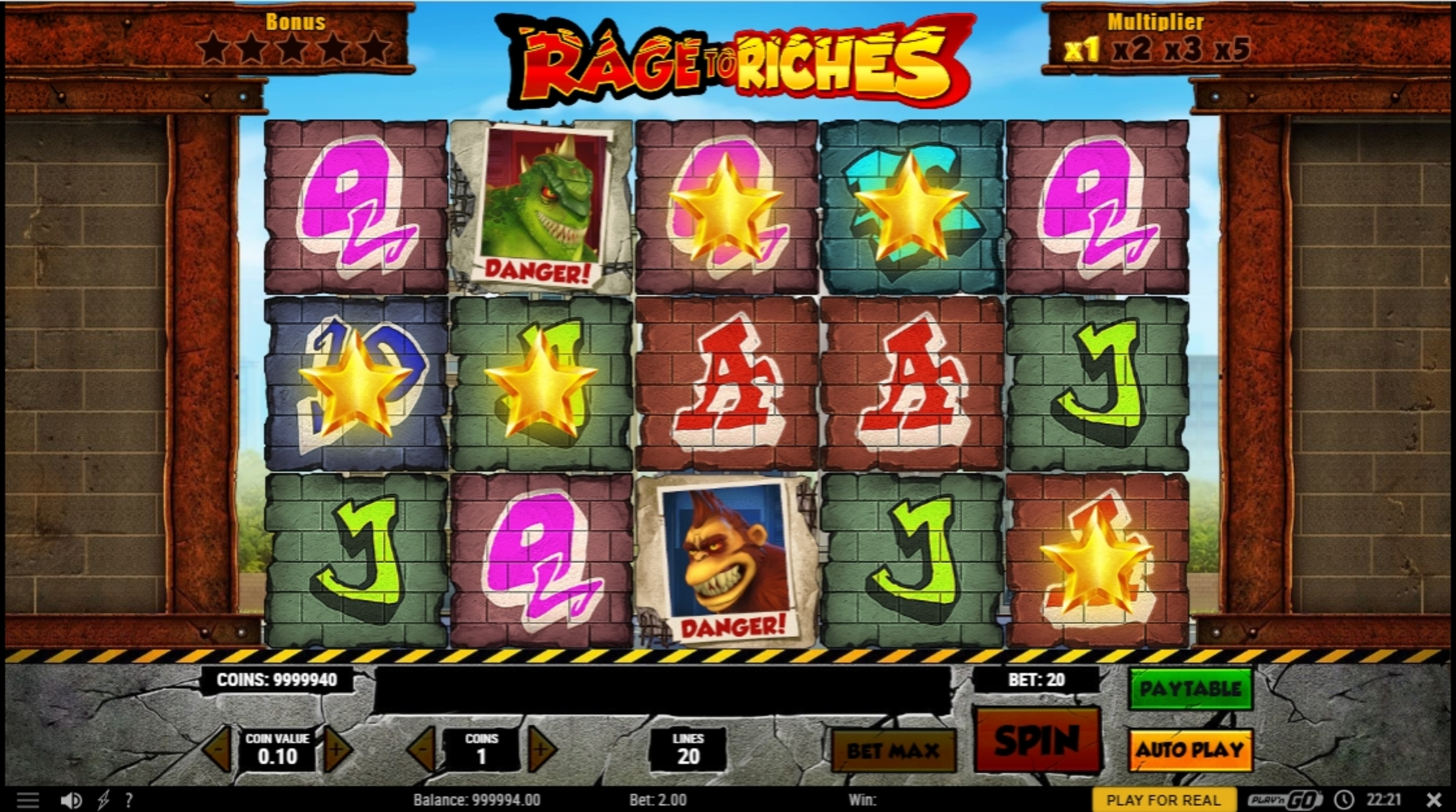 Win Money in Rage to Riches Free Slot Game by Playn GO