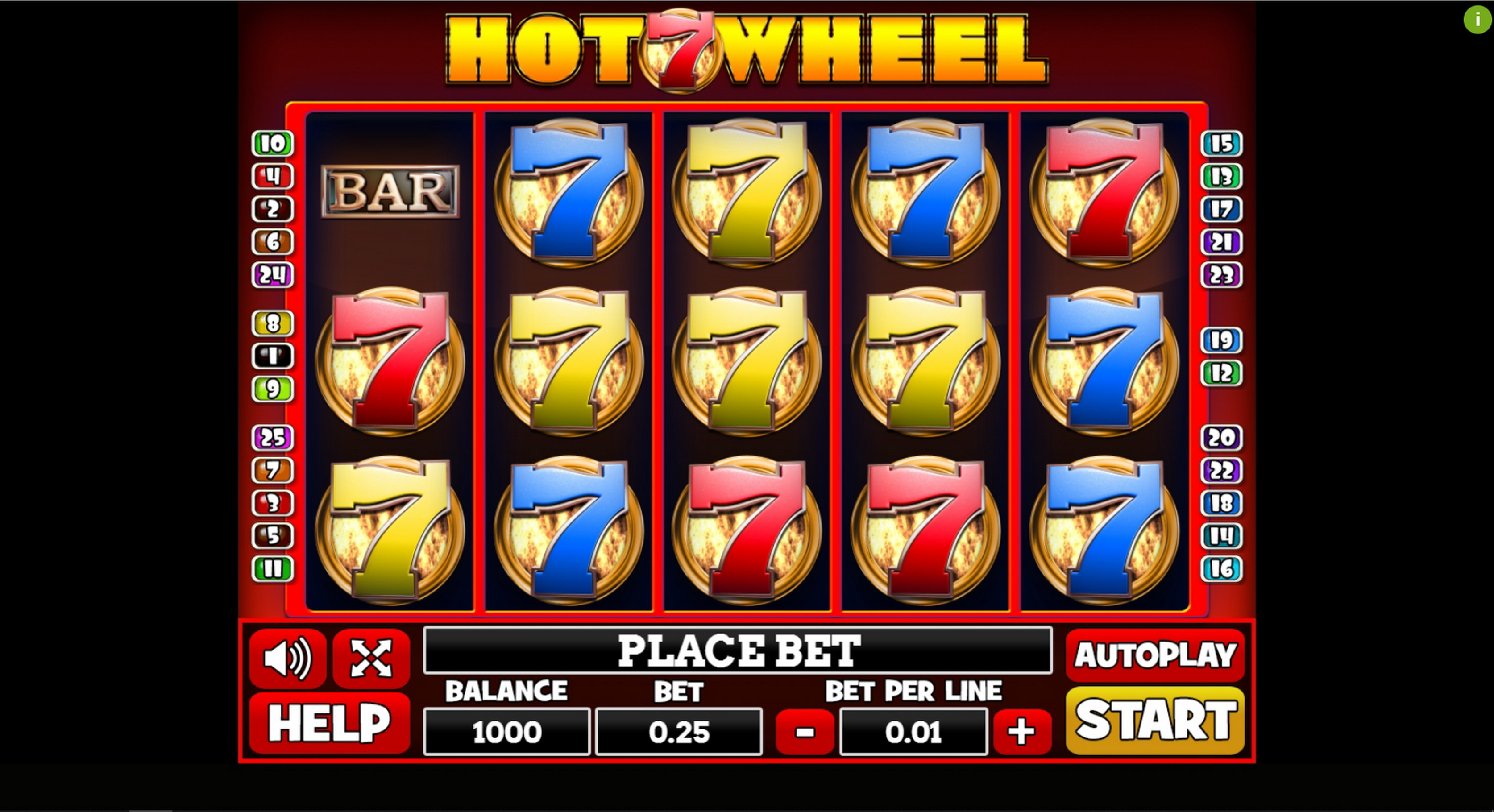 Reels in Hot 7 Wheel Slot Game by PlayPearls