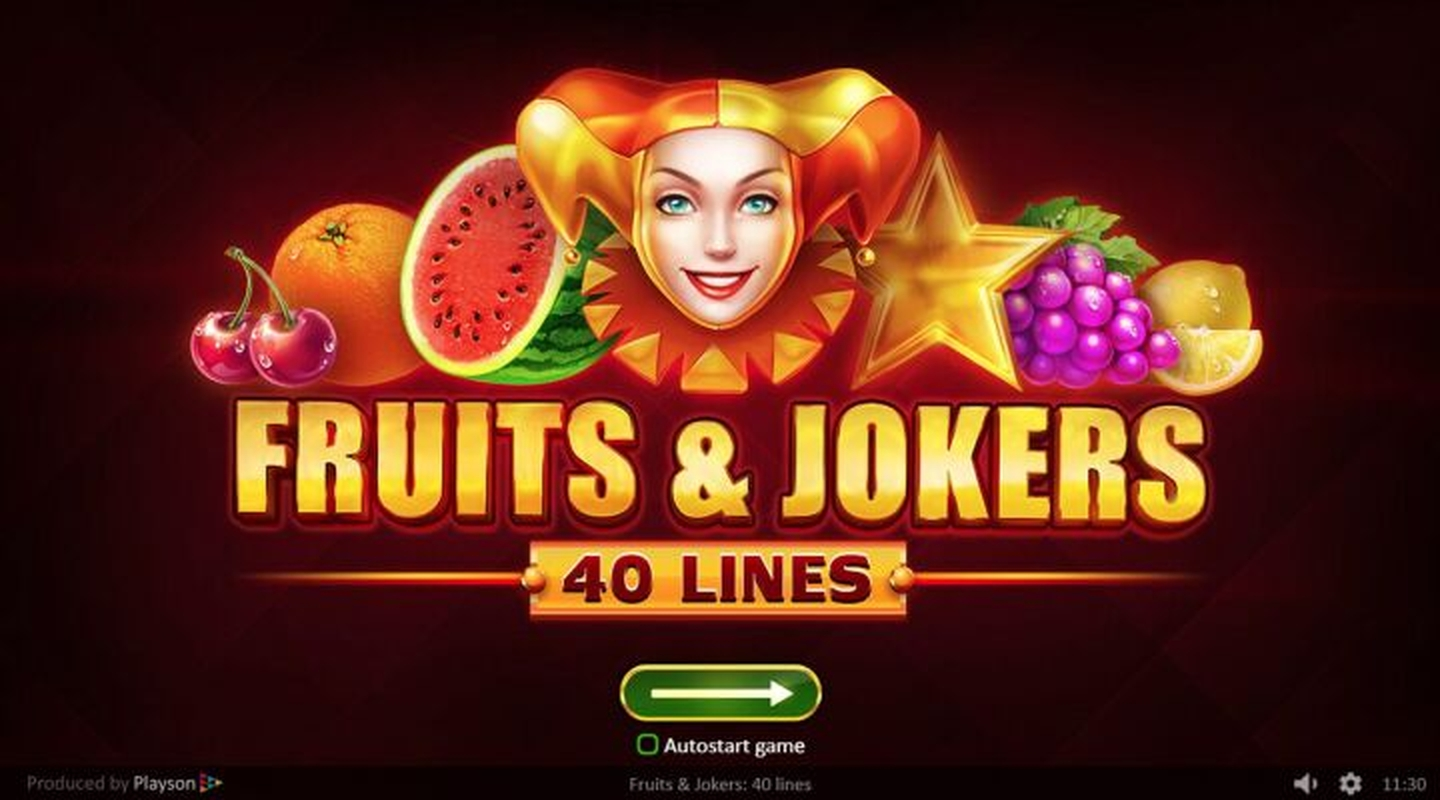 The Fruits and Jokers: 40 lines Online Slot Demo Game by Playson