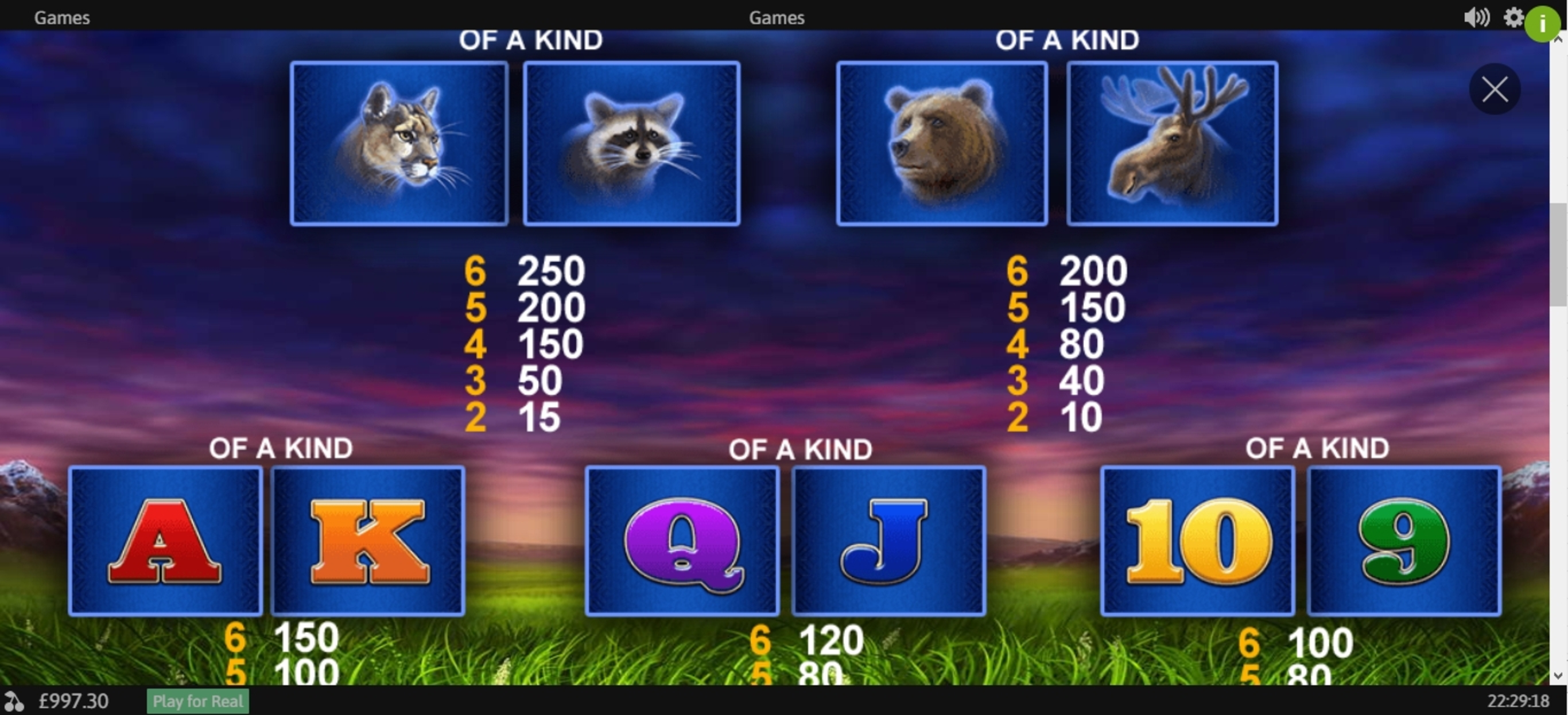 Info of Buffalo Blitz Slot Game by Playtech