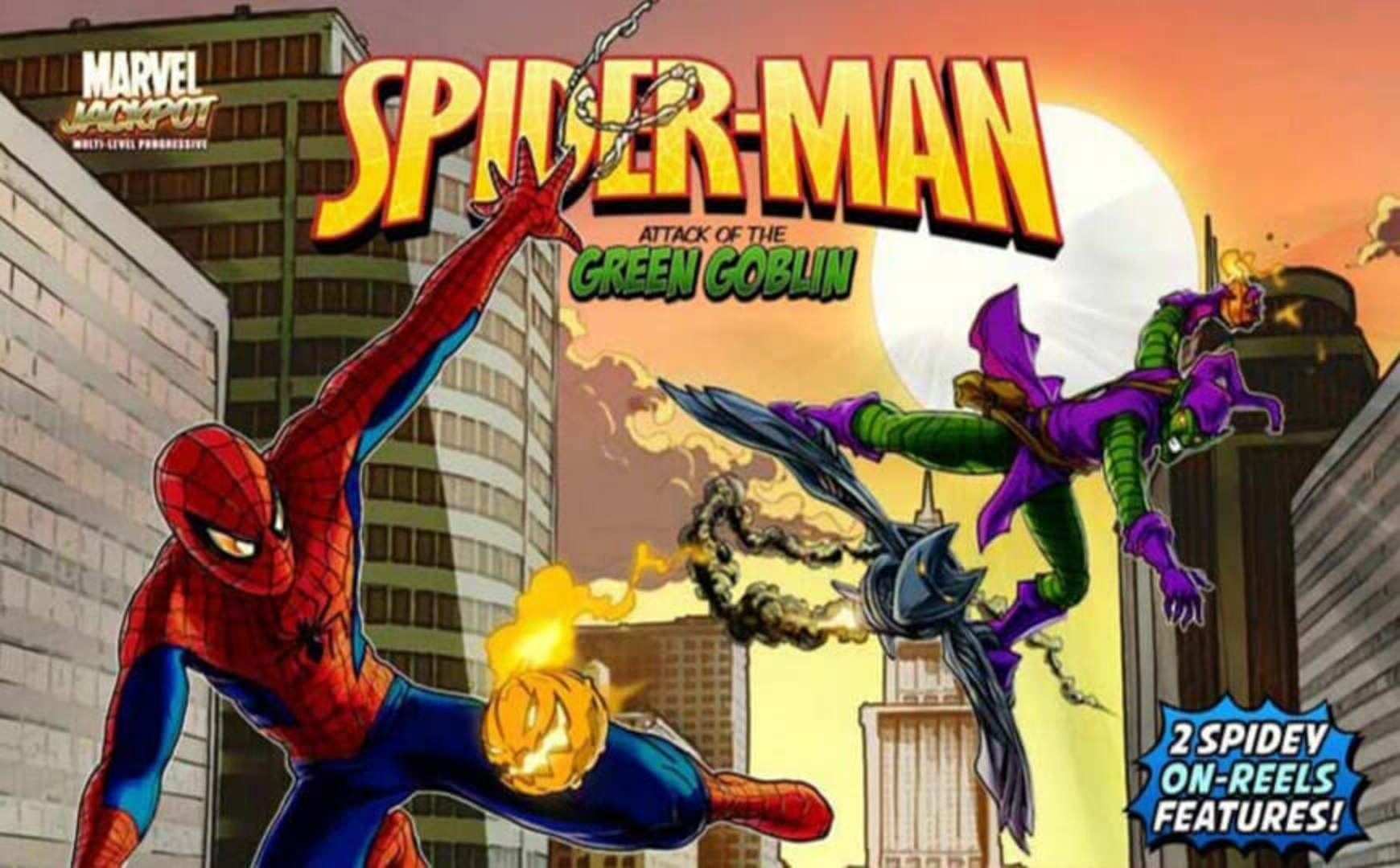 The Spider-Man: Attack of the Green Goblin Online Slot Demo Game by Playtech