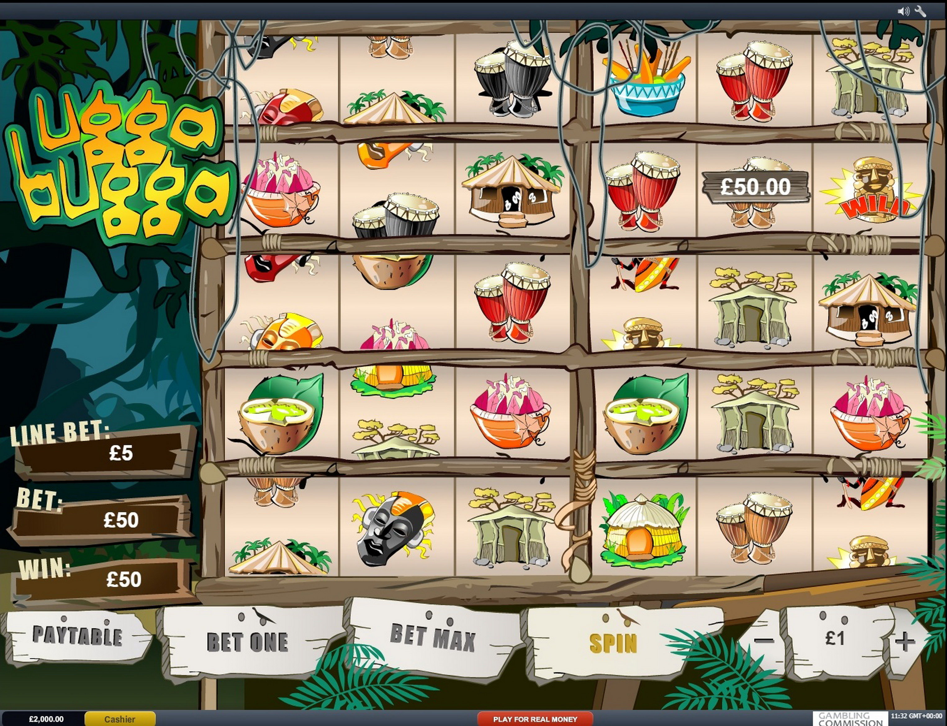 Win Money in Ugga Bugga Free Slot Game by Playtech
