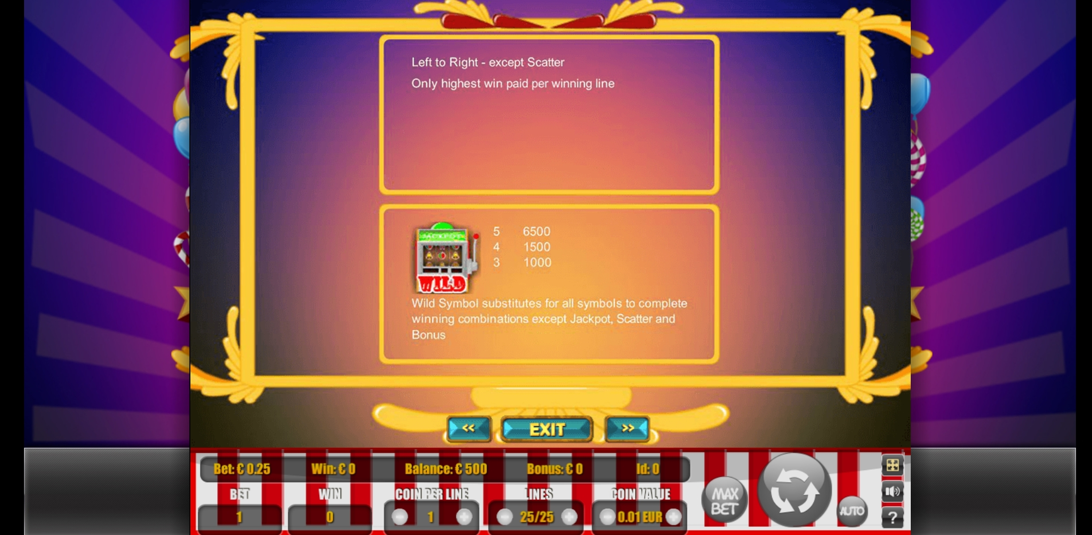 Info of Coin Mania Slot Game by Portomaso Gaming