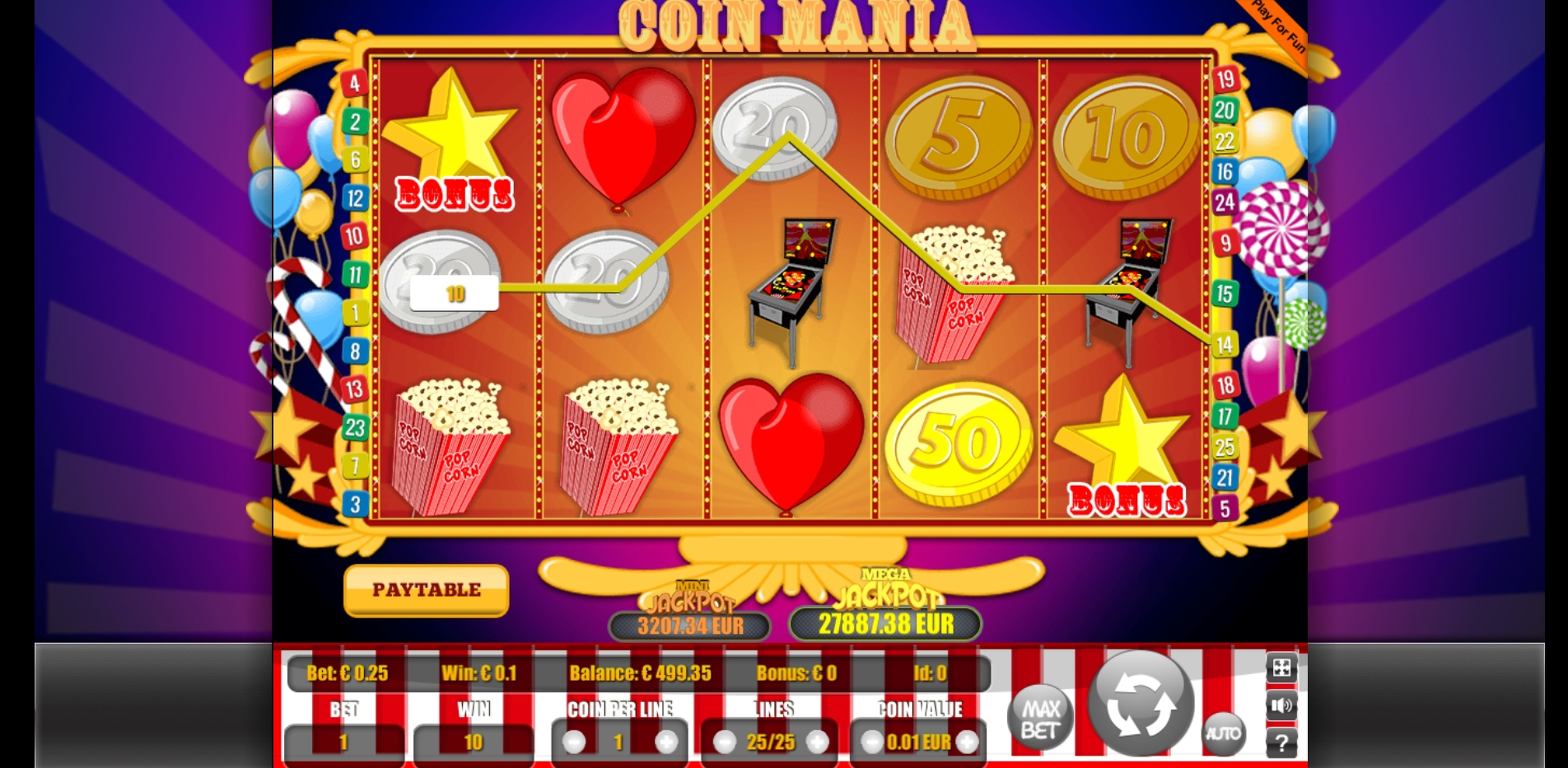 Win Money in Coin Mania Free Slot Game by Portomaso Gaming