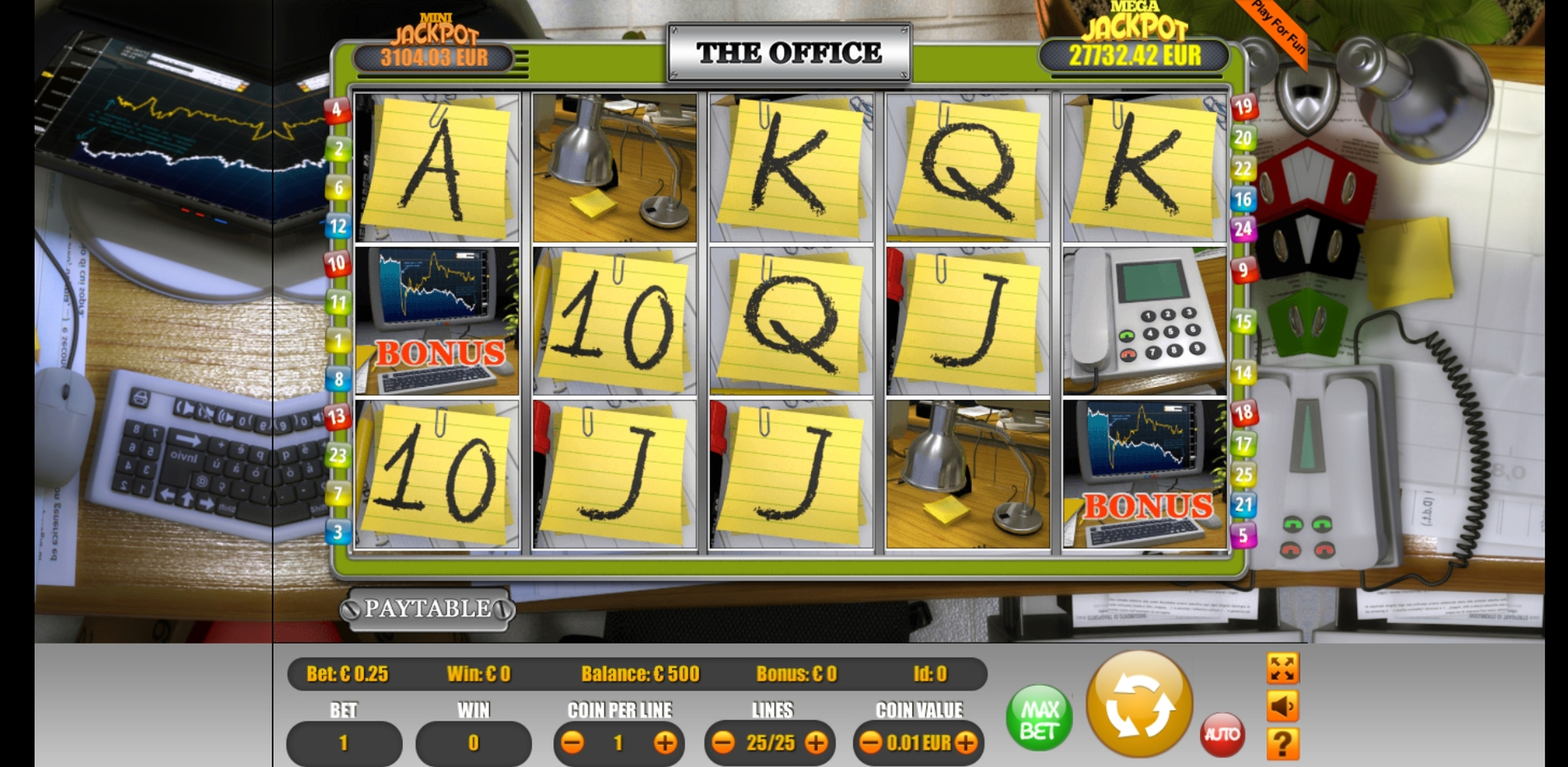 Reels in The Office Slot Game by Portomaso Gaming