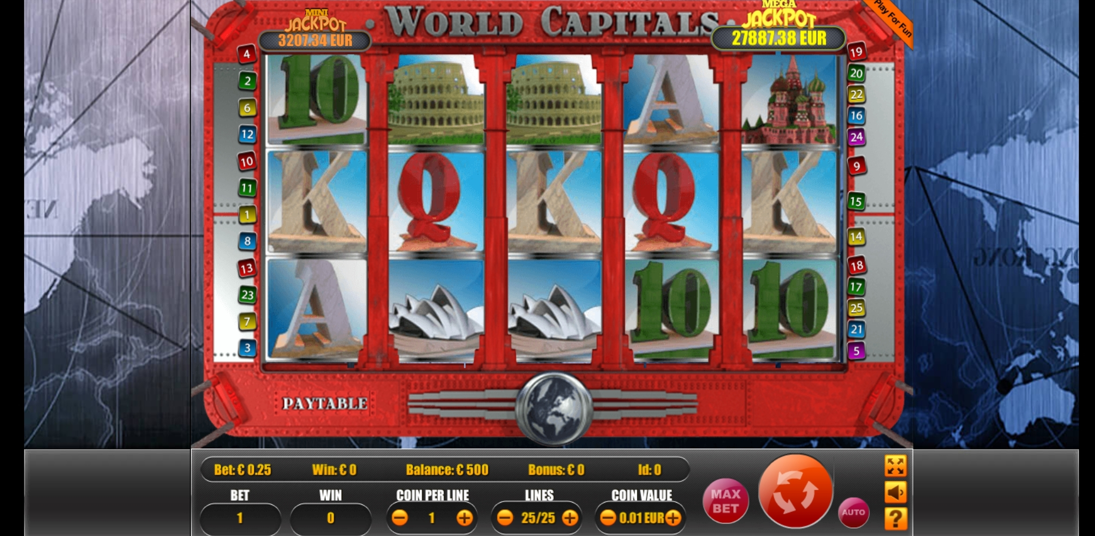 Reels in World Capitals Slot Game by Portomaso Gaming