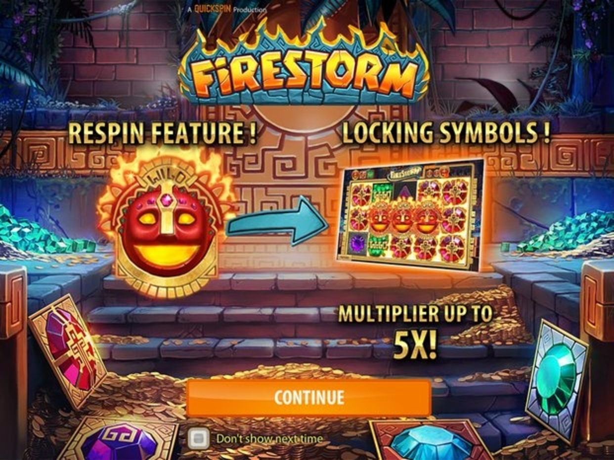 The Firestorm Online Slot Demo Game by Quickspin