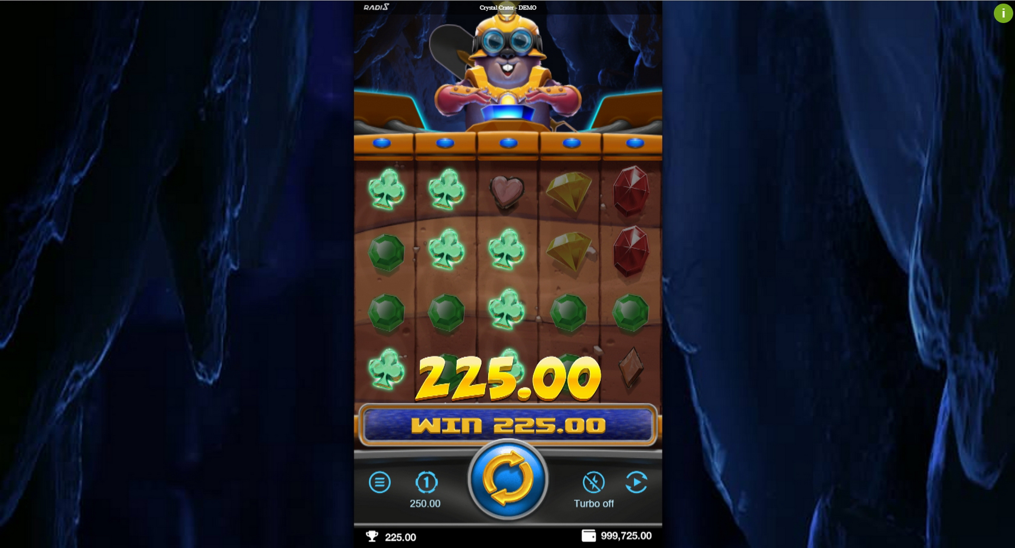 Win Money in Crystal Crater Free Slot Game by Radi8