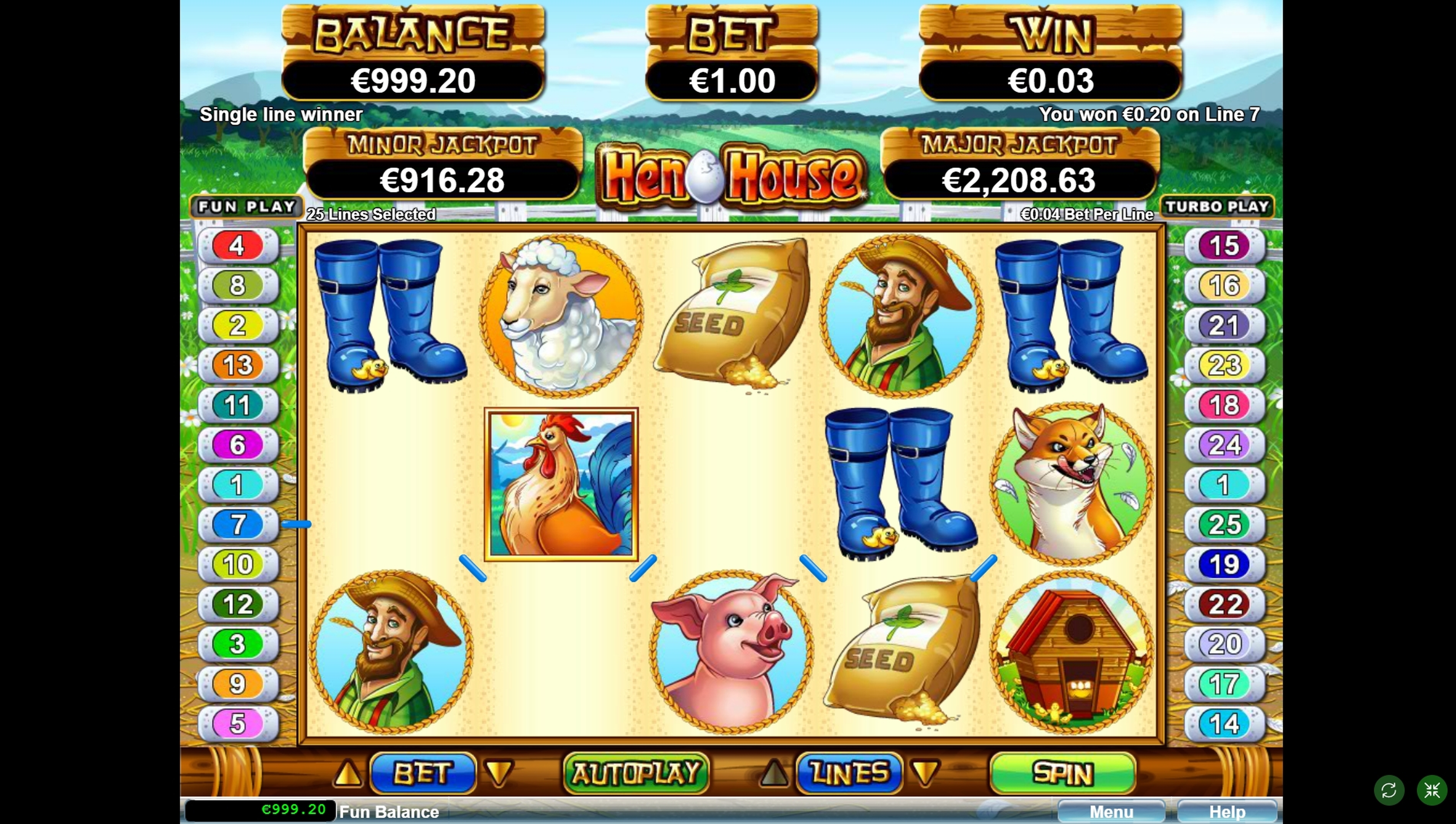 Win Money in Hen House Free Slot Game by Real Time Gaming