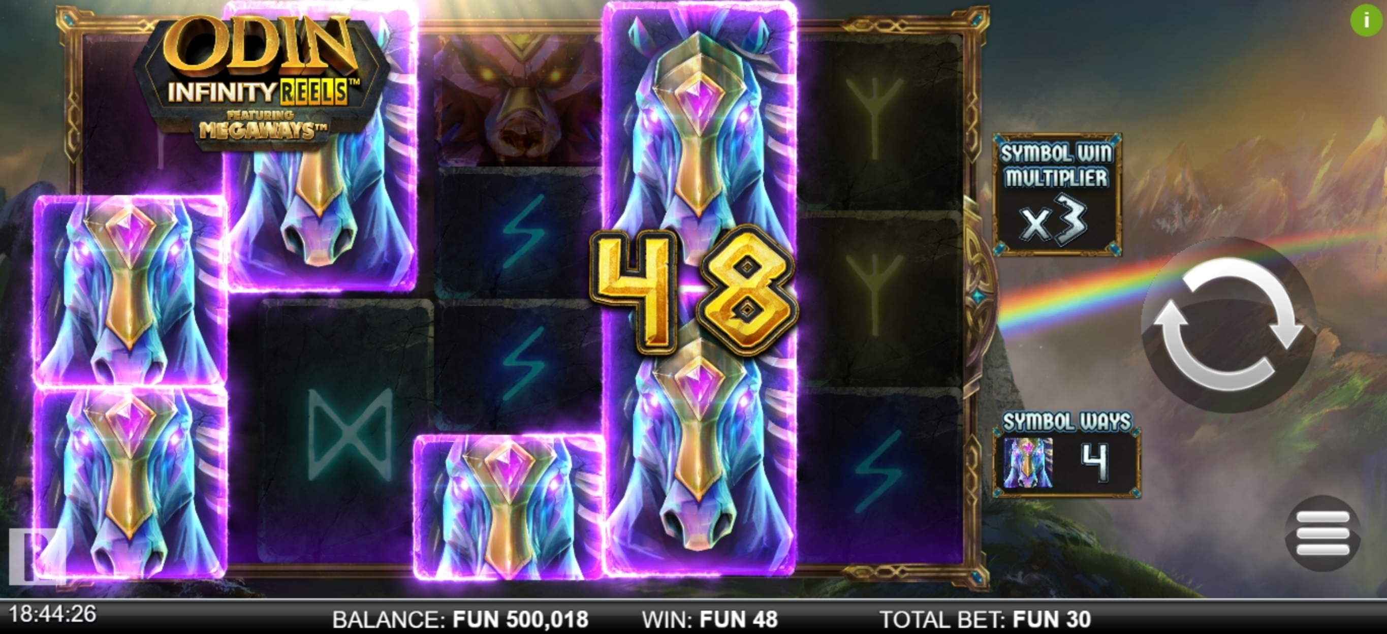 Win Money in Odin Infinity Reels Megaways Free Slot Game by Reel Play
