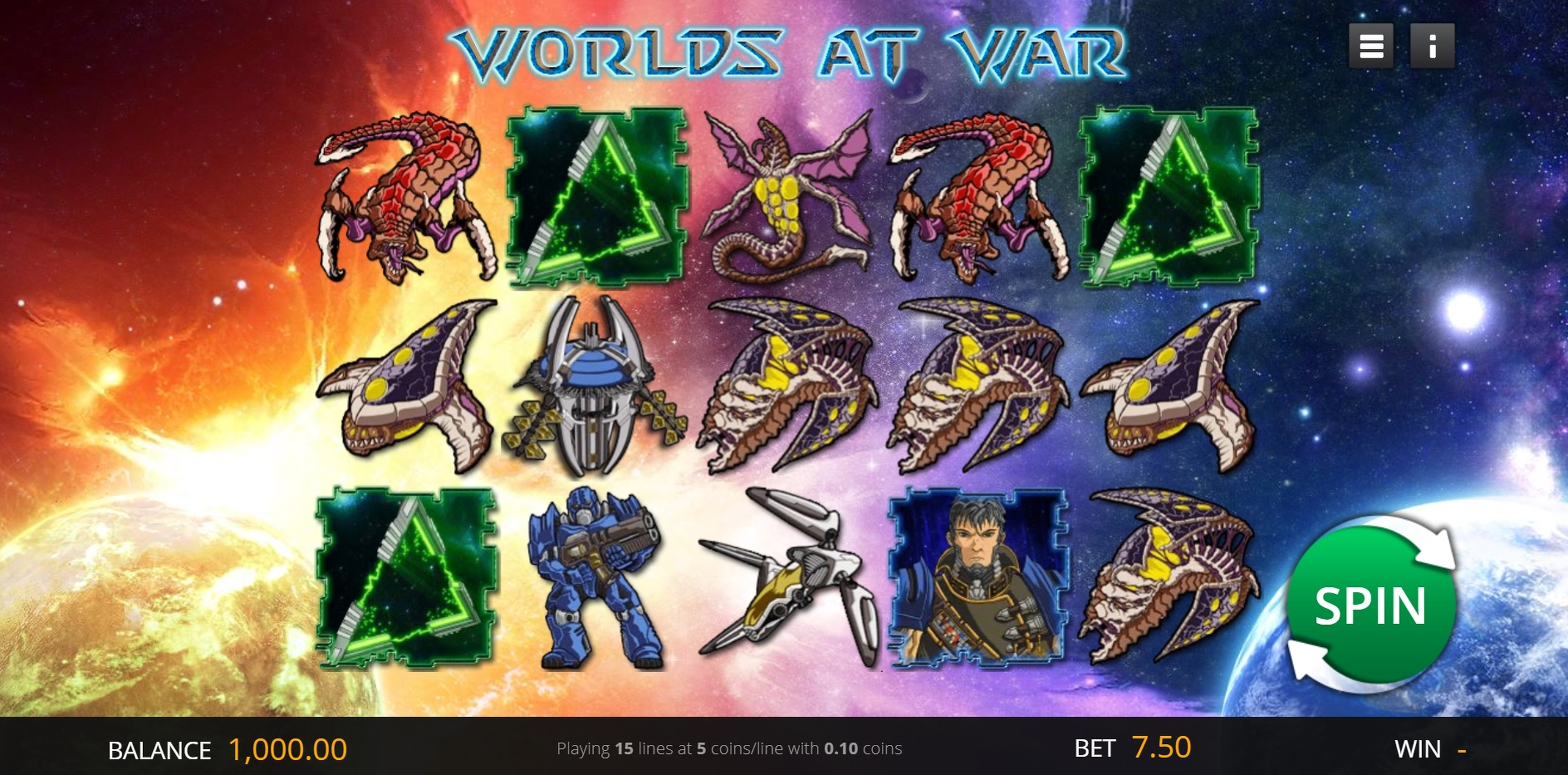 Reels in Worlds At War Slot Game by saucify