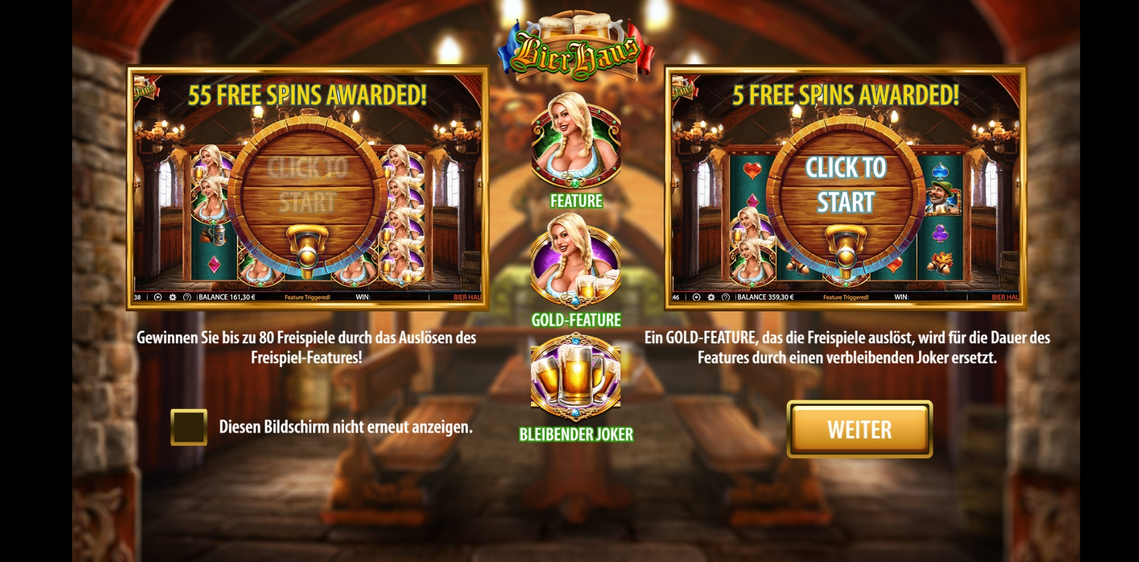 Play Bier Haus Free Casino Slot Game by WMS