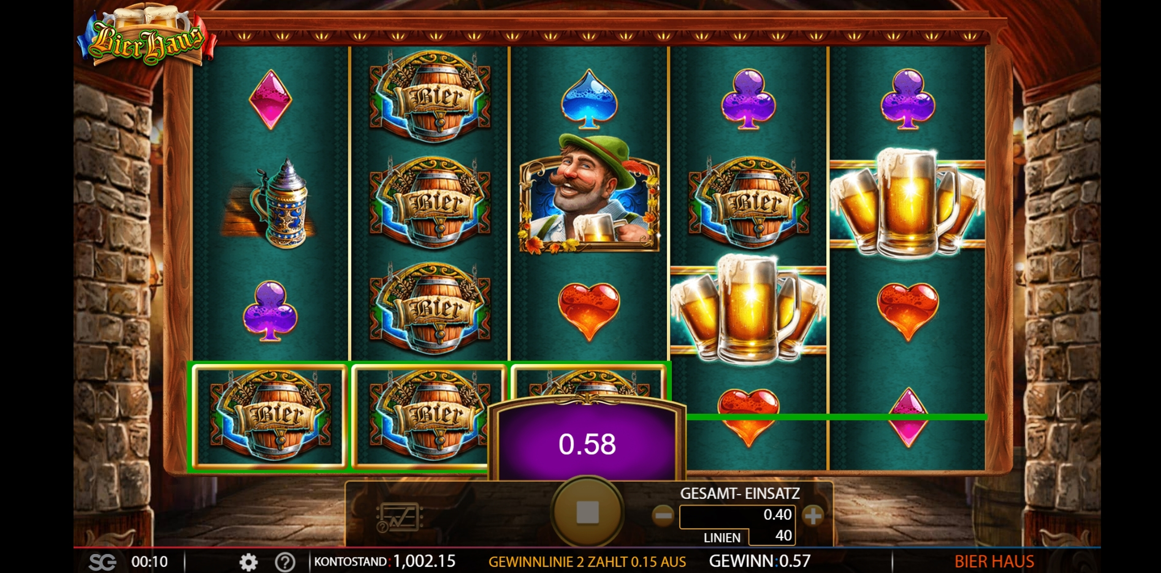Win Money in Bier Haus Free Slot Game by WMS