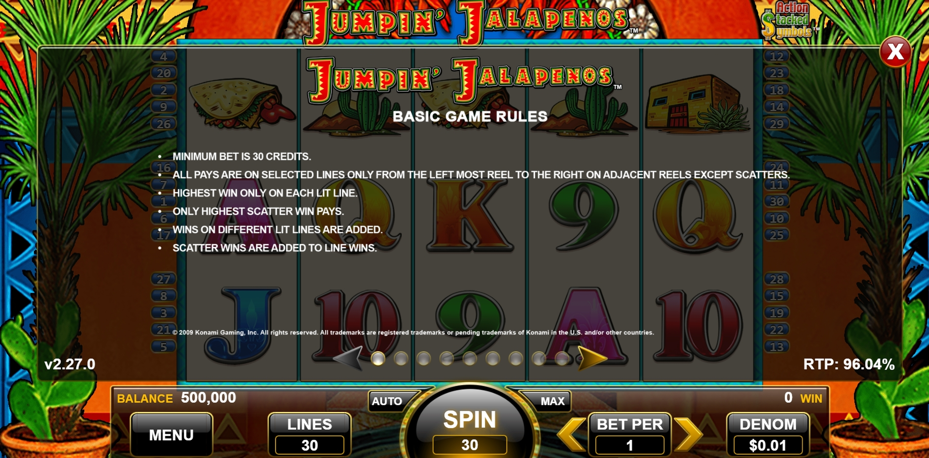 Info of Jumpin Jalapenos Slot Game by WMS