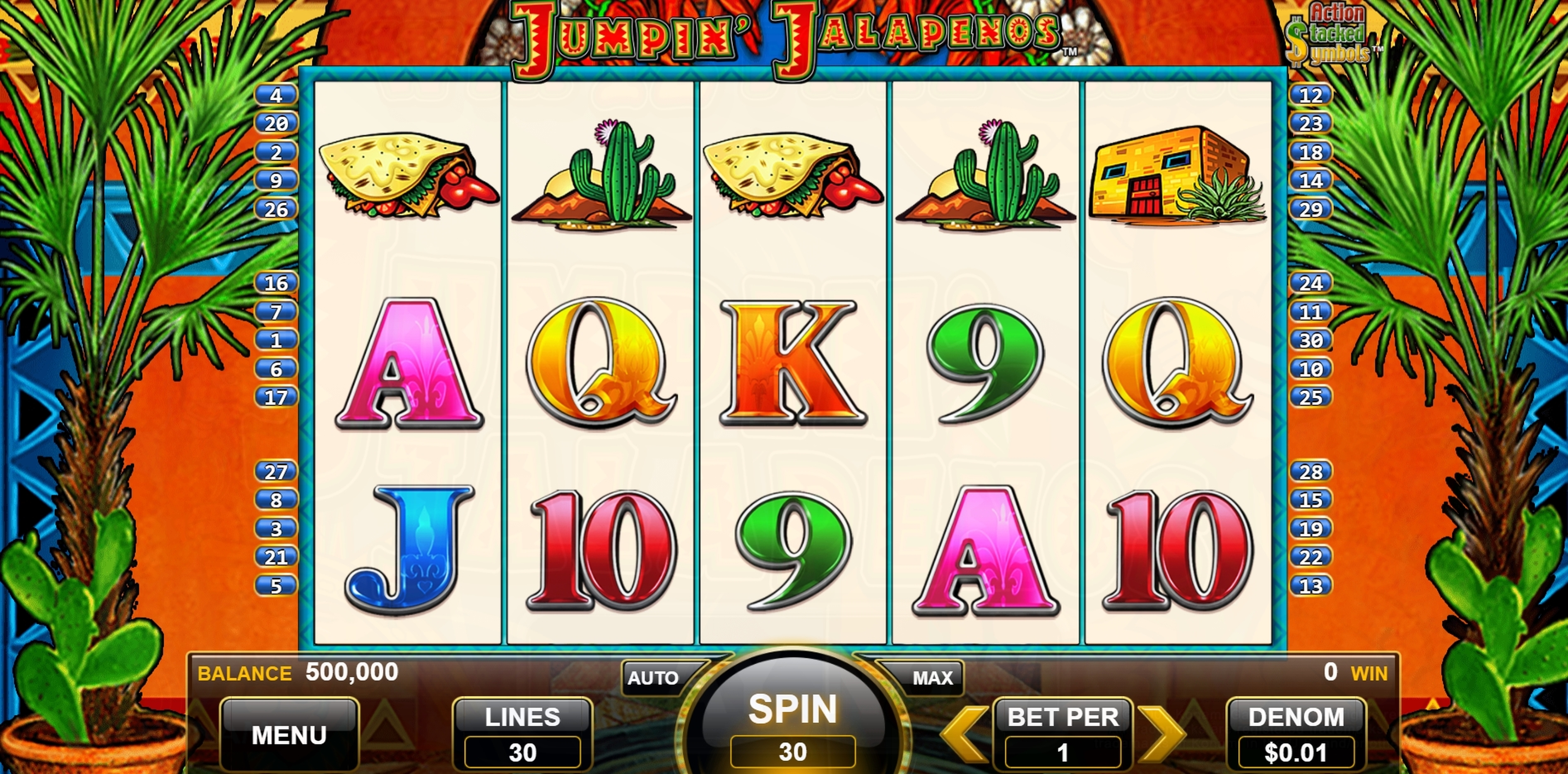Reels in Jumpin Jalapenos Slot Game by WMS