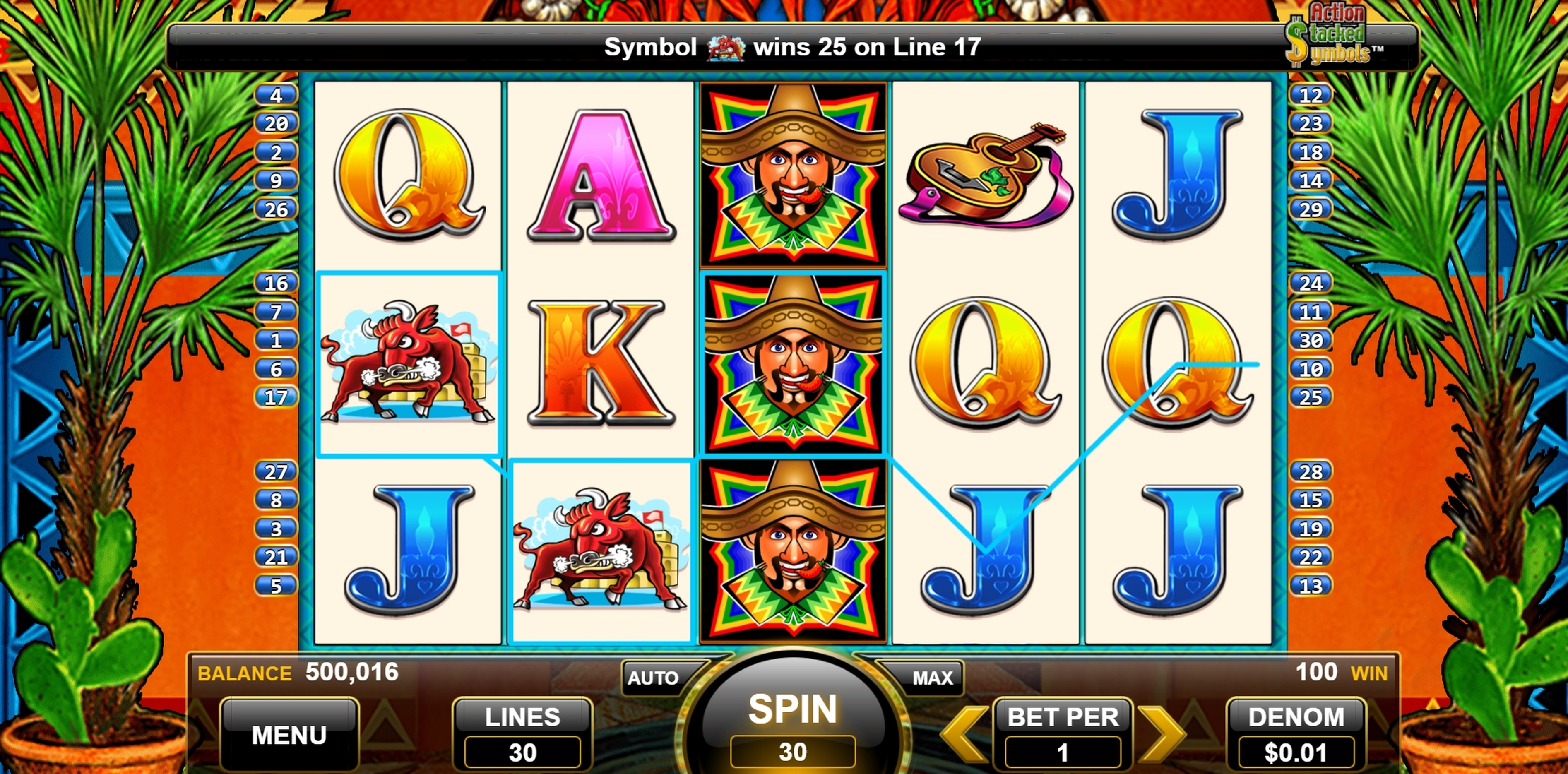 Win Money in Jumpin Jalapenos Free Slot Game by WMS