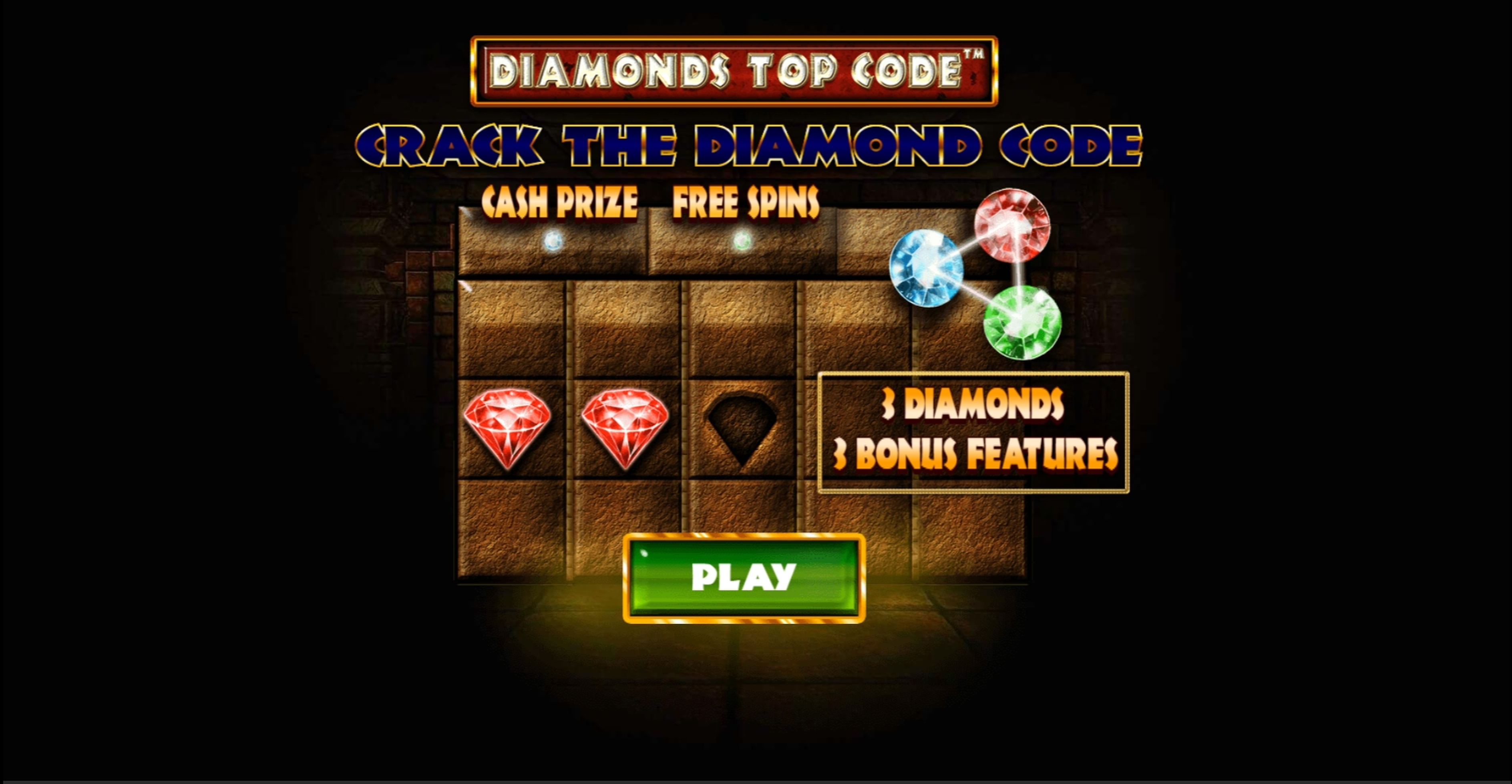 Win Money in Diamonds Top Code Free Slot Game by Skywind