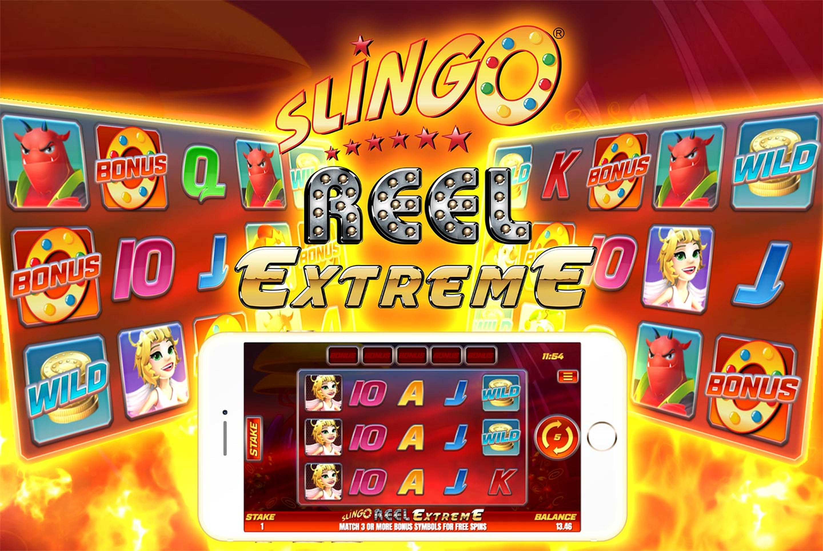 Reels in Slingo Reel Extreme Slot Game by Slingo