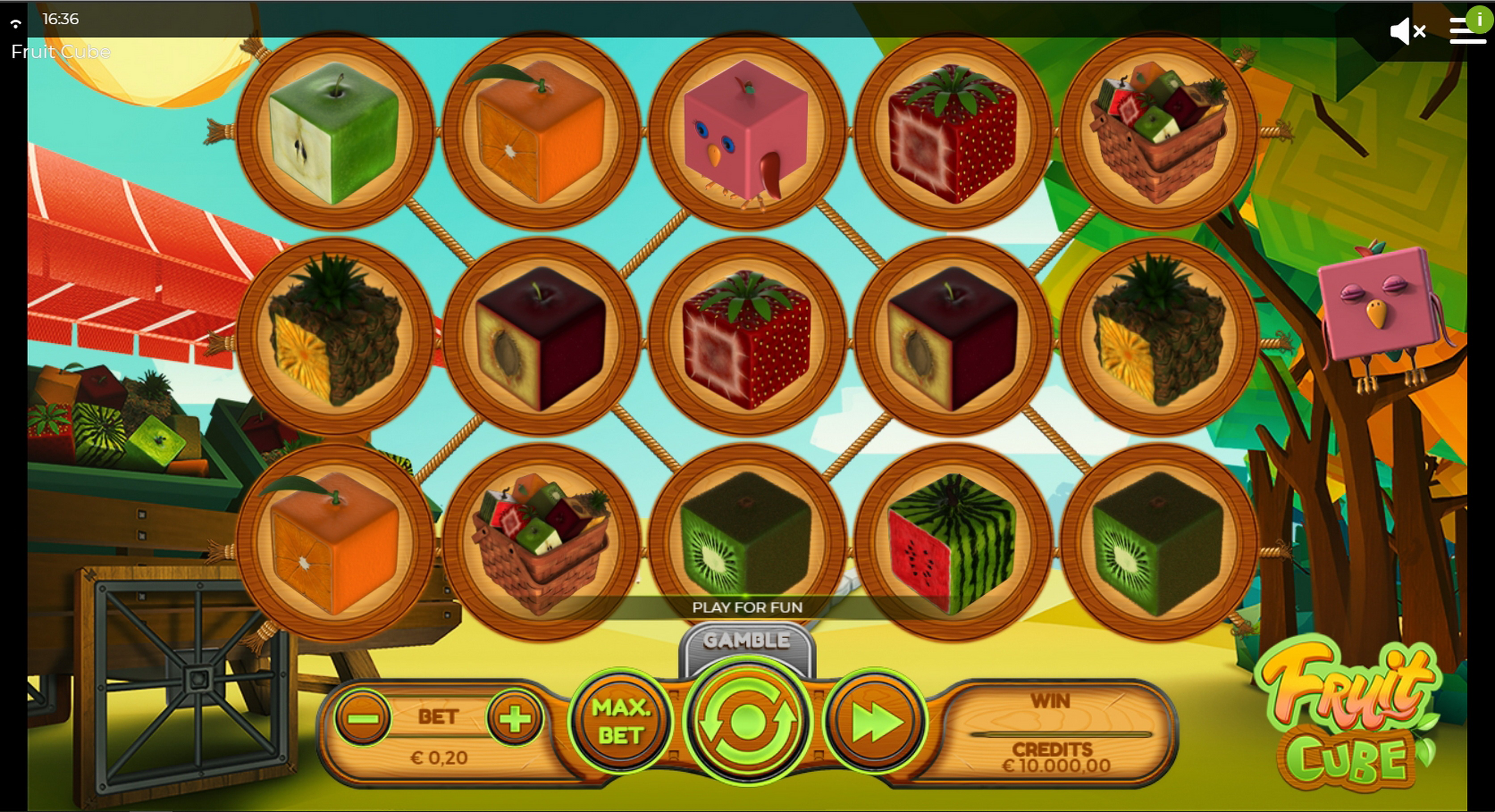 Reels in Fruit Cube Slot Game by Spinmatic