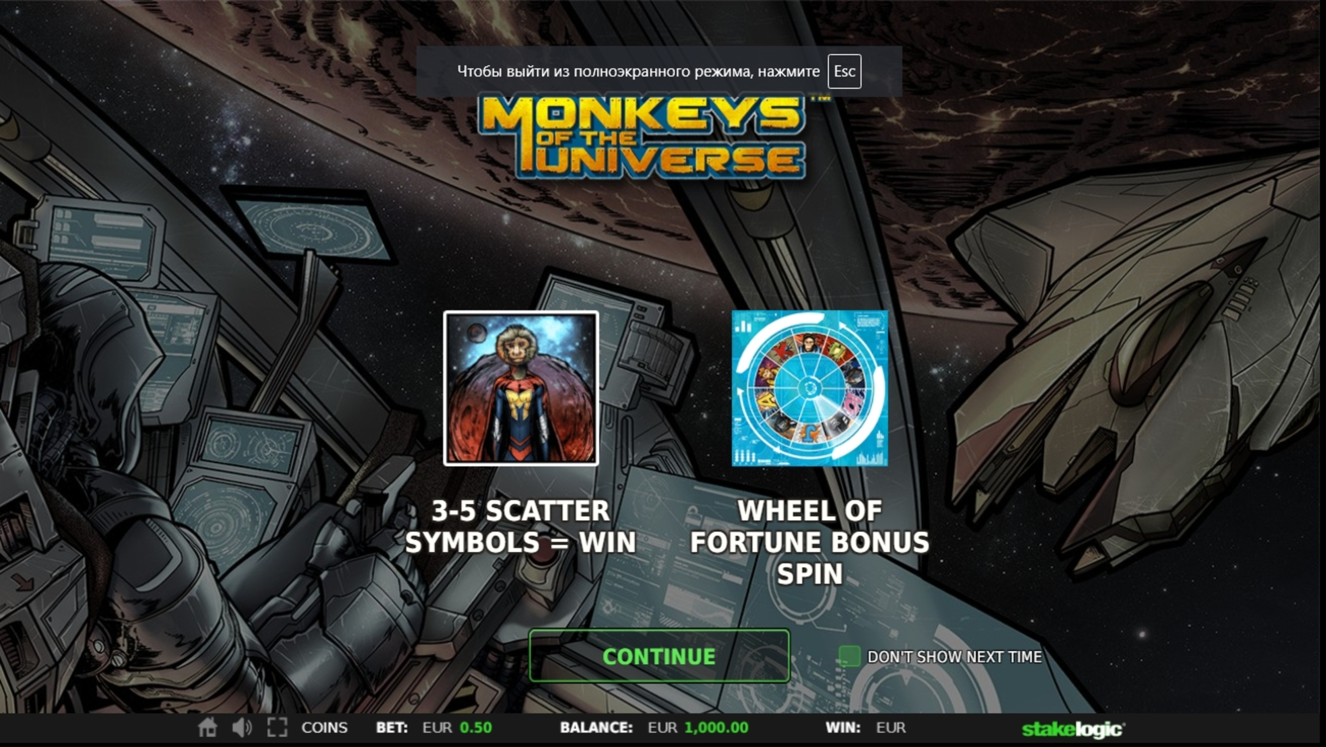 Play Monkeys of the Universe Free Casino Slot Game by Stakelogic