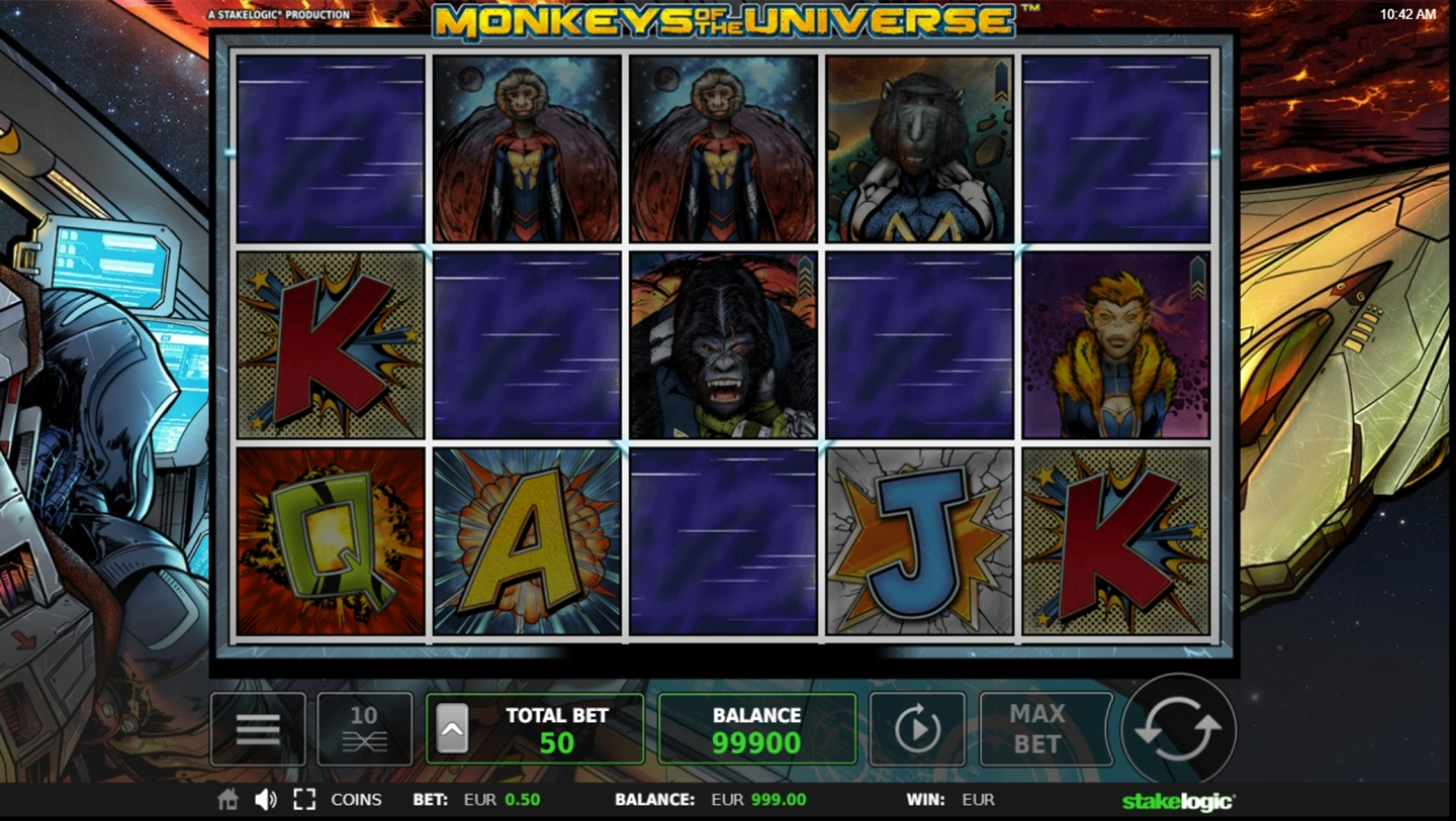 Win Money in Monkeys of the Universe Free Slot Game by Stakelogic