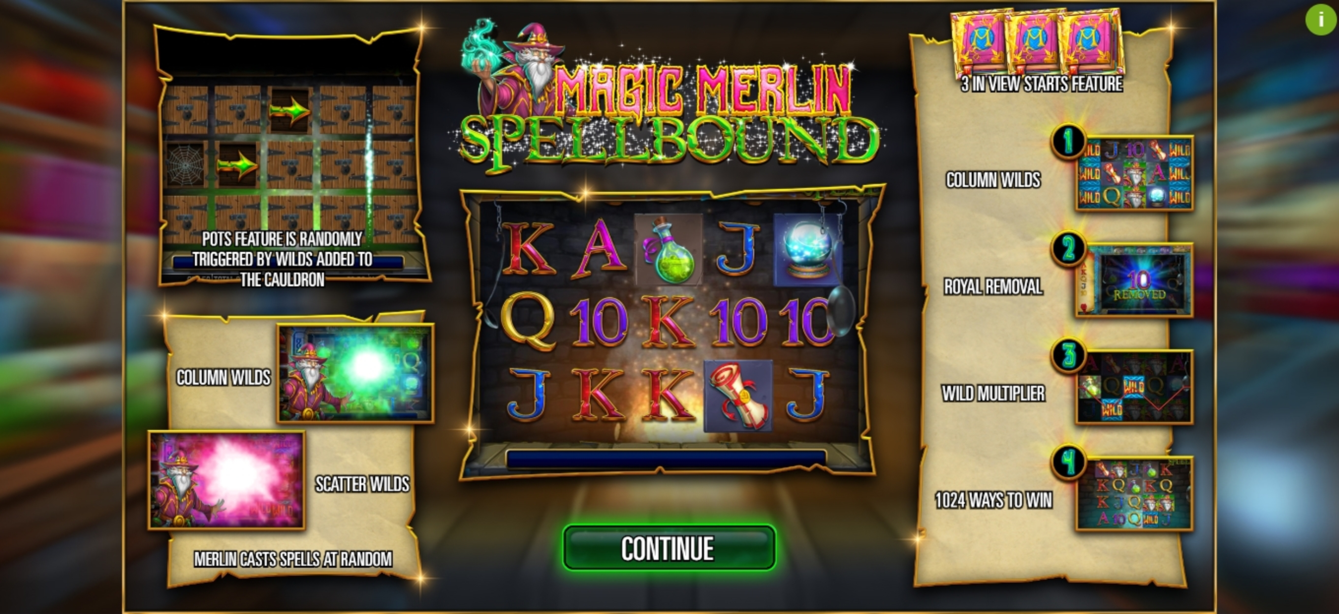 Play Magic Merlin: Spellbound Free Casino Slot Game by Storm Gaming