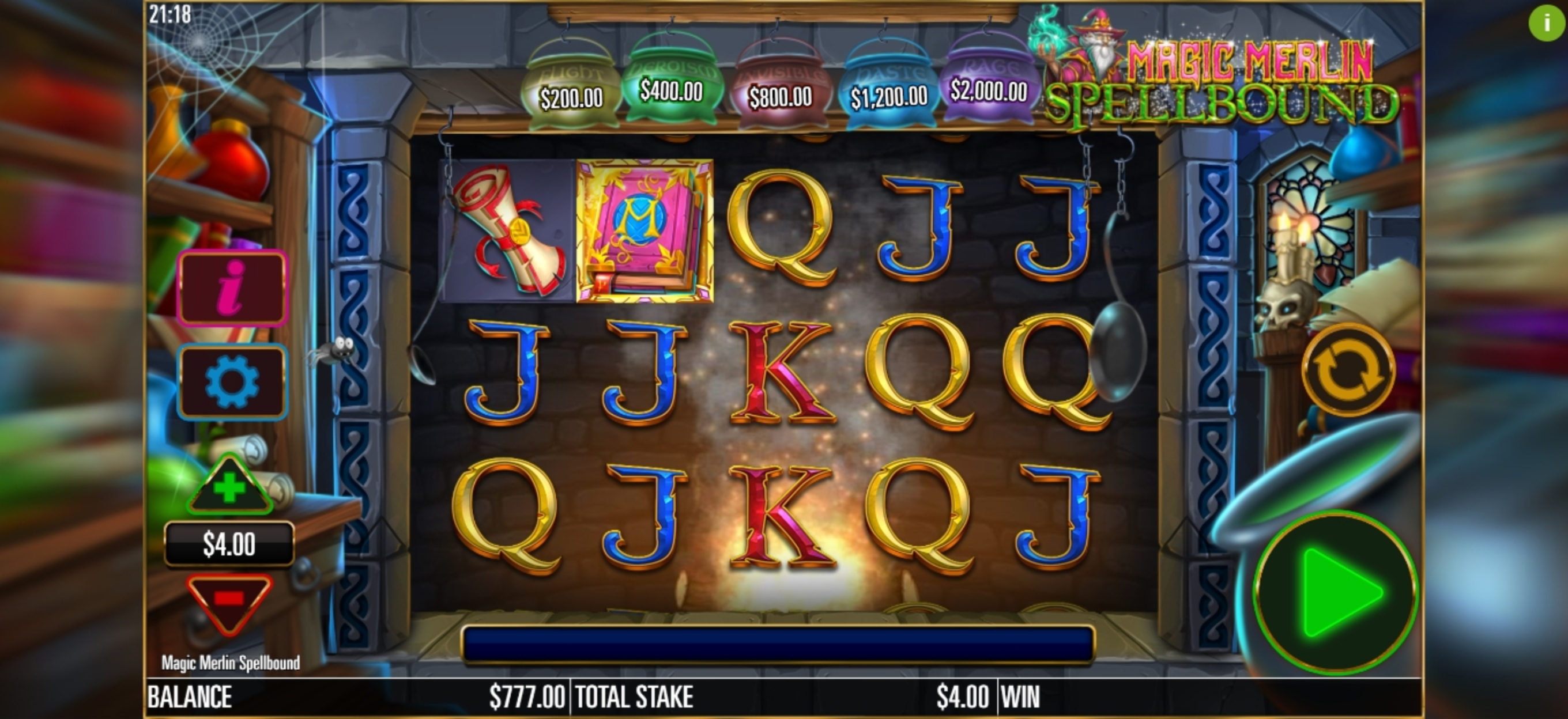 Reels in Magic Merlin: Spellbound Slot Game by Storm Gaming