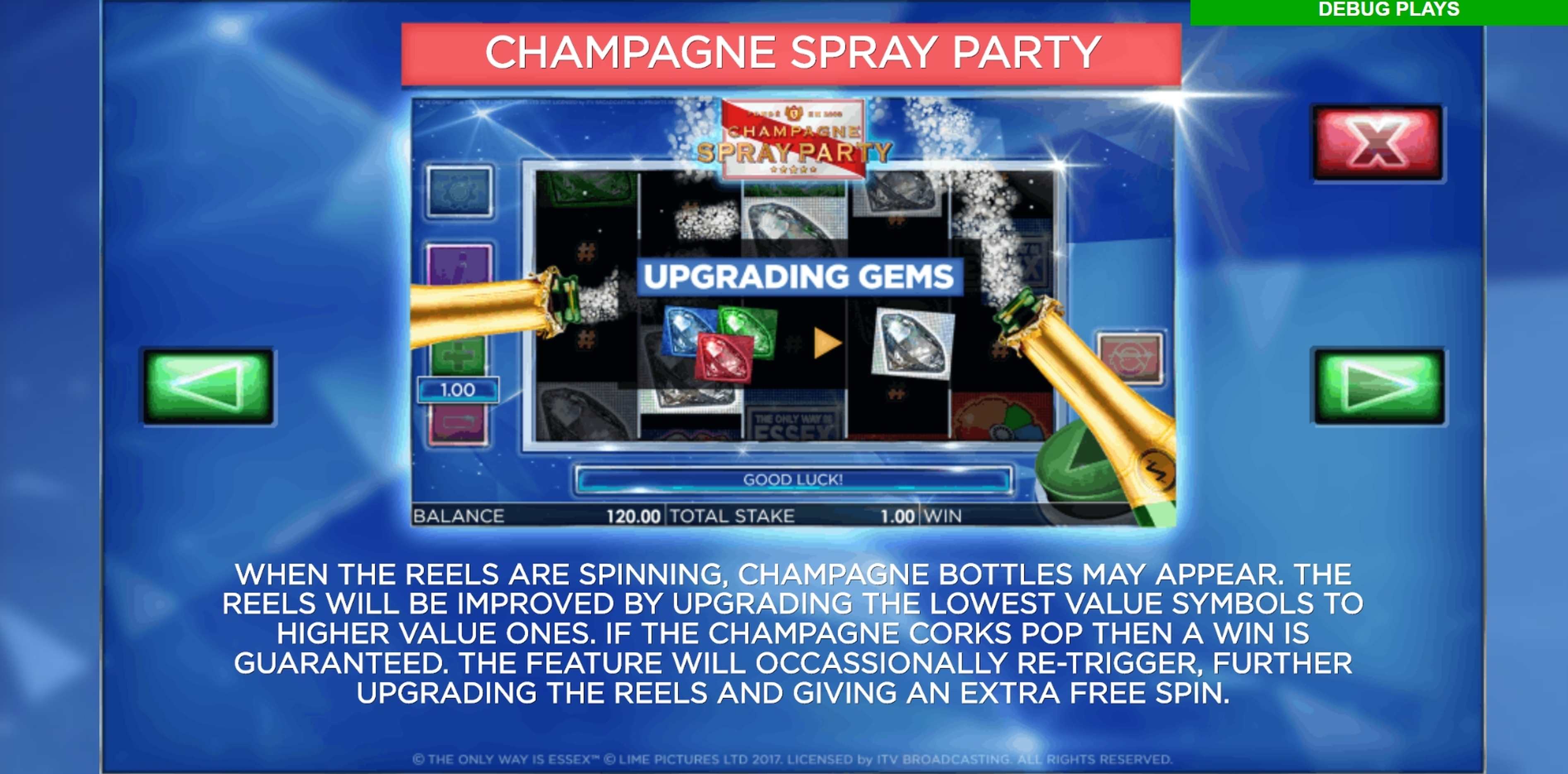 Info of The Only Way is Essex Slot Game by Storm Gaming