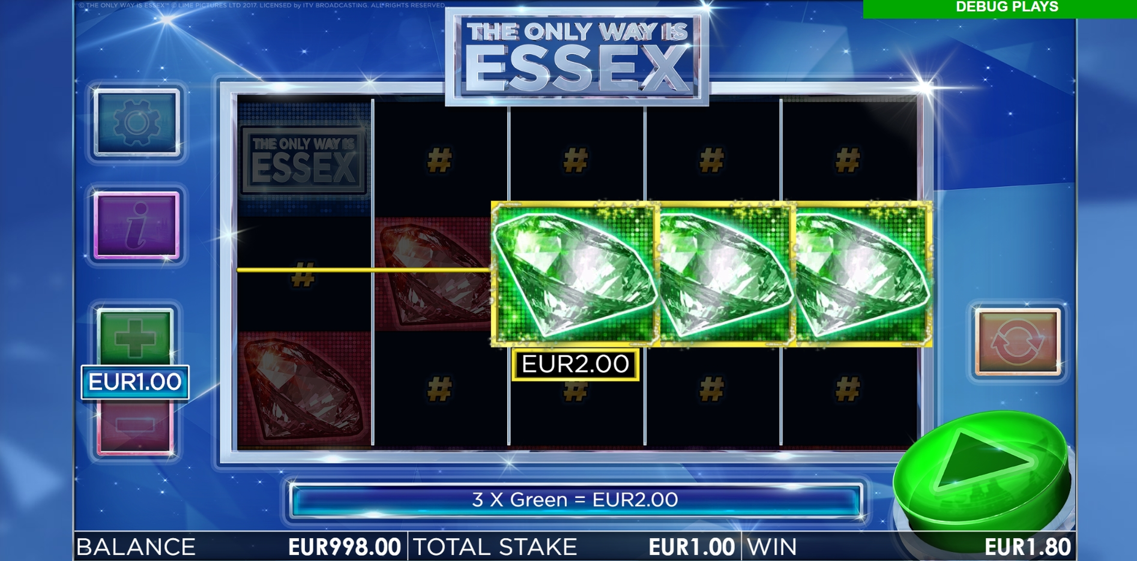 Win Money in The Only Way is Essex Free Slot Game by Storm Gaming